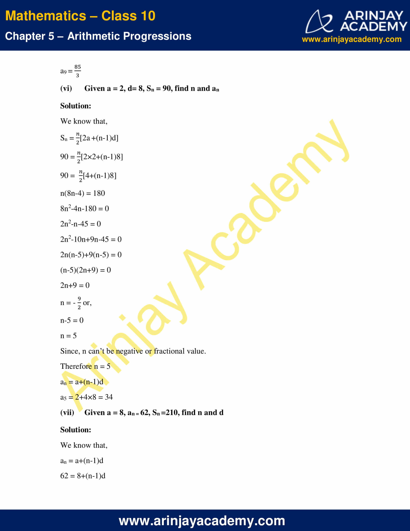 NCERT Solutions For Class 10 Maths Chapter 5 Exercise 5.3 image 8