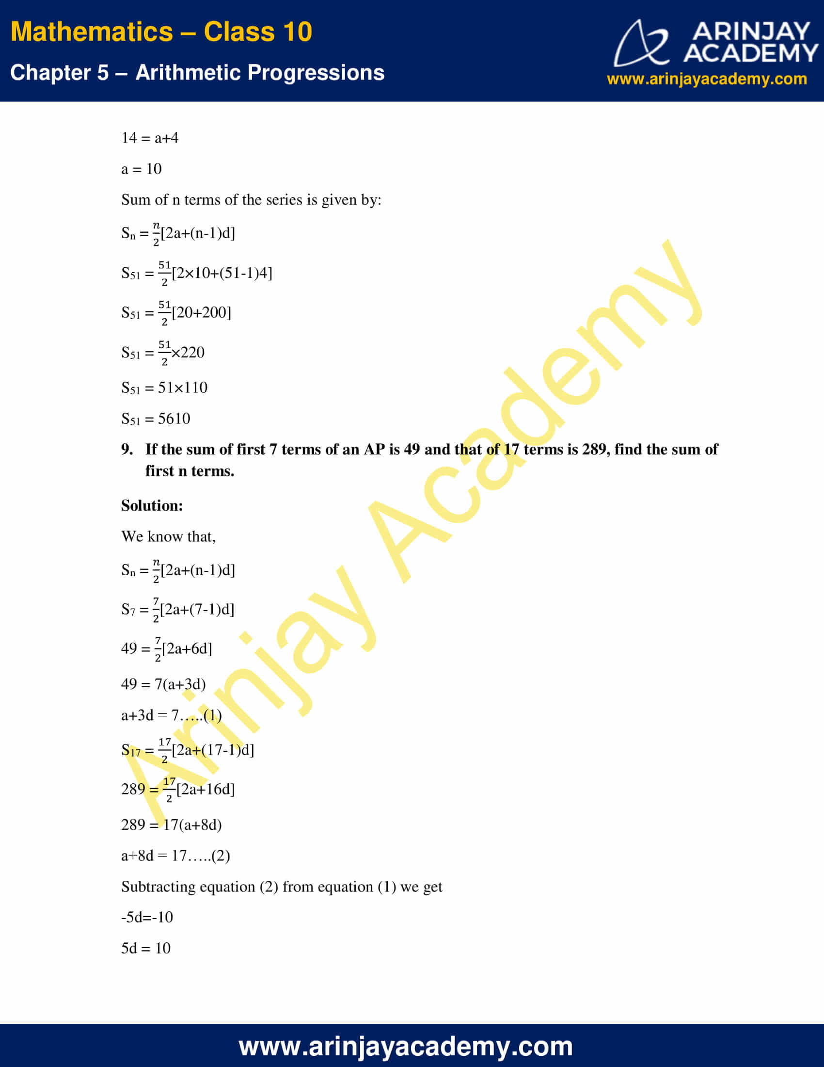 NCERT Solutions For Class 10 Maths Chapter 5 Exercise 5.3 image 14