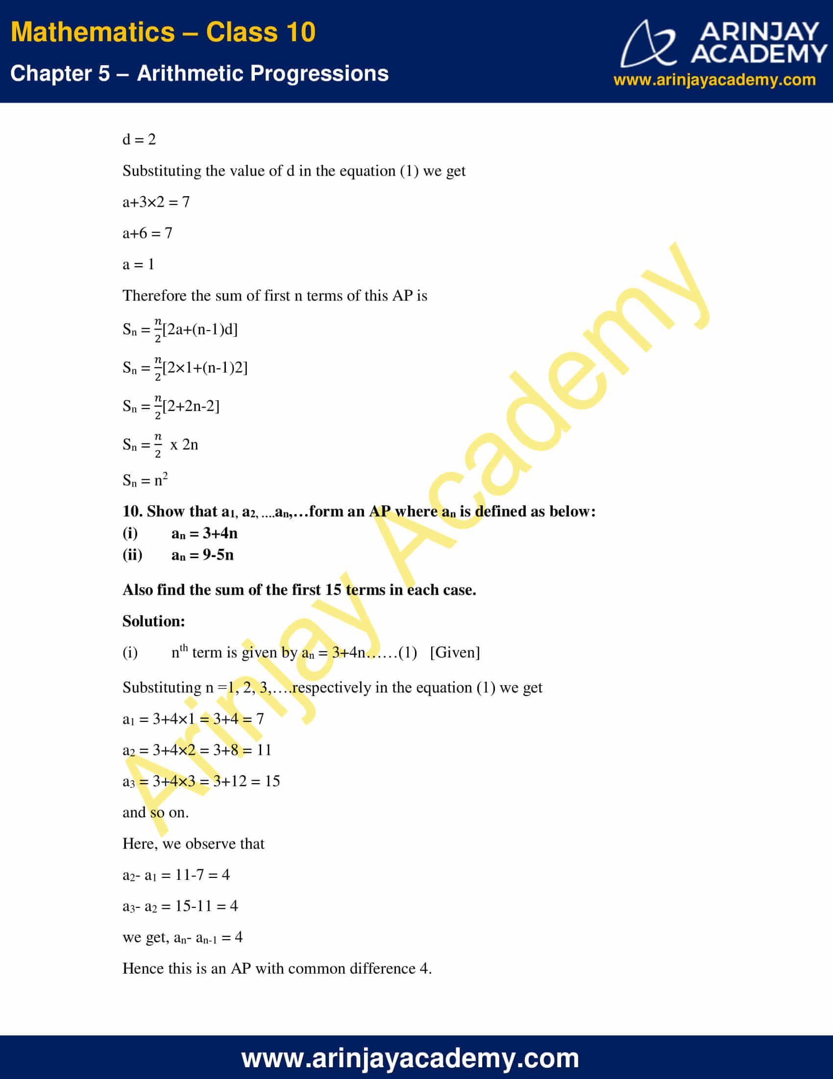 NCERT Solutions For Class 10 Maths Chapter 5 Exercise 5.3 image 15