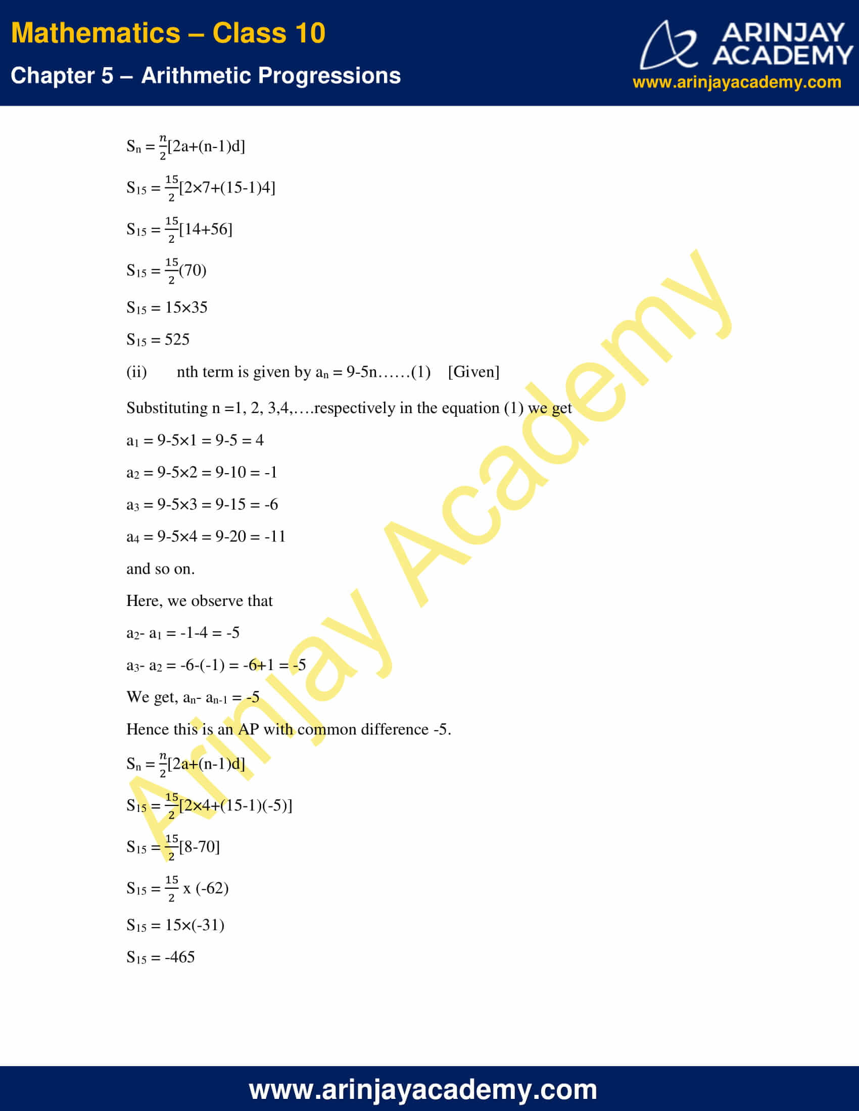 NCERT Solutions For Class 10 Maths Chapter 5 Exercise 5.3 image 16
