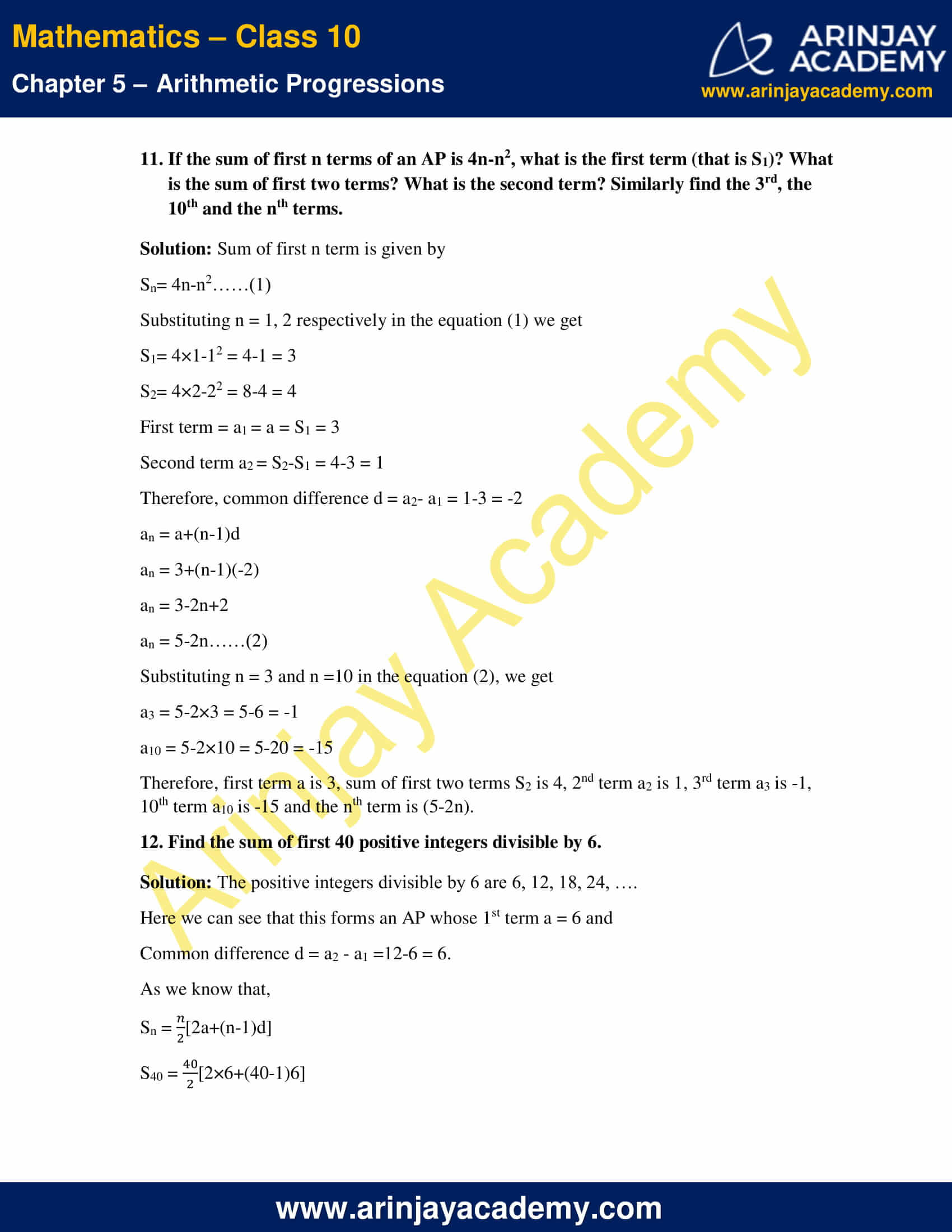 NCERT Solutions For Class 10 Maths Chapter 5 Exercise 5.3 image 17