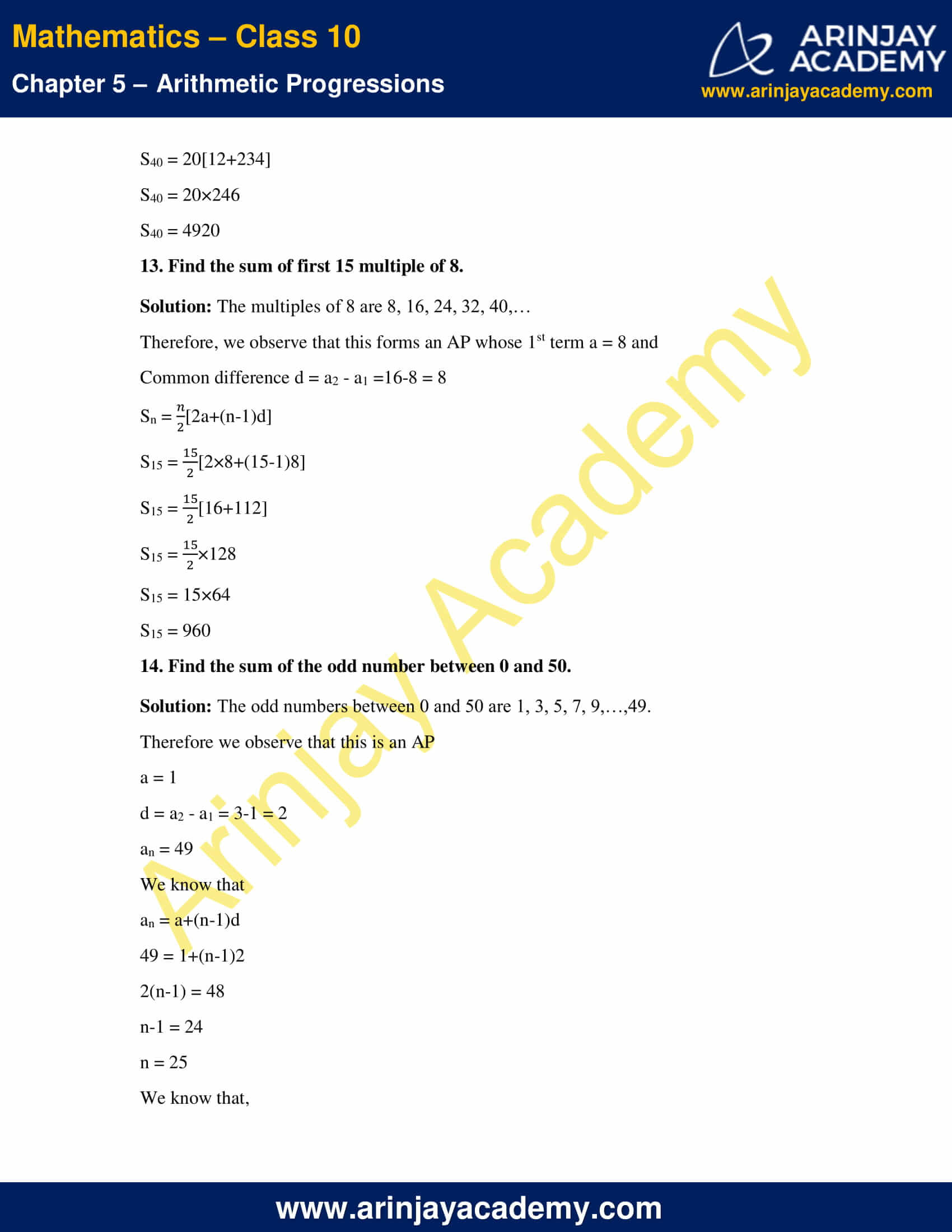 NCERT Solutions For Class 10 Maths Chapter 5 Exercise 5.3 image 18