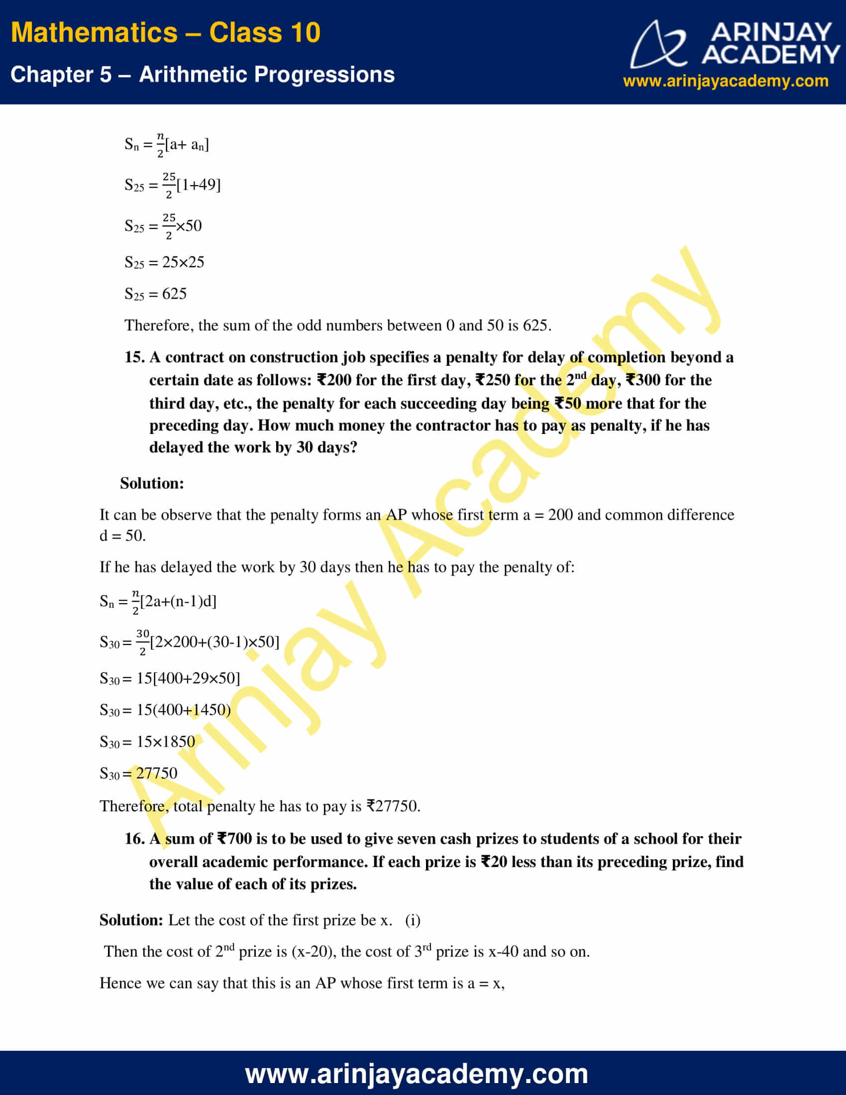 NCERT Solutions For Class 10 Maths Chapter 5 Exercise 5.3 image 19