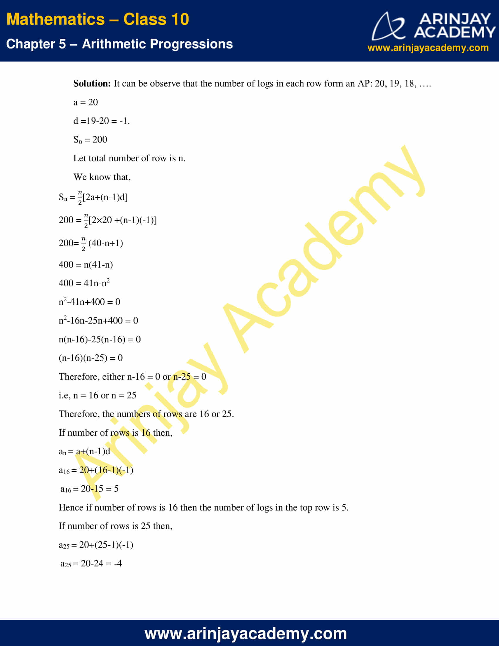 NCERT Solutions For Class 10 Maths Chapter 5 Exercise 5.3 image 22
