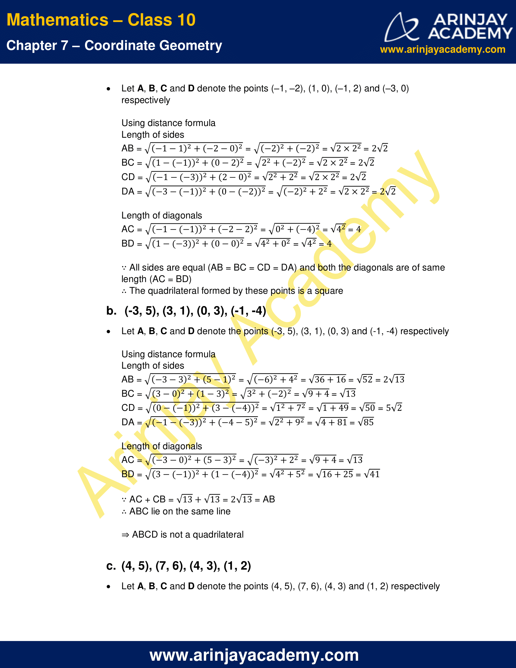 NCERT Solutions For Class 10 Maths Chapter 7 Exercise 7.1 image 4