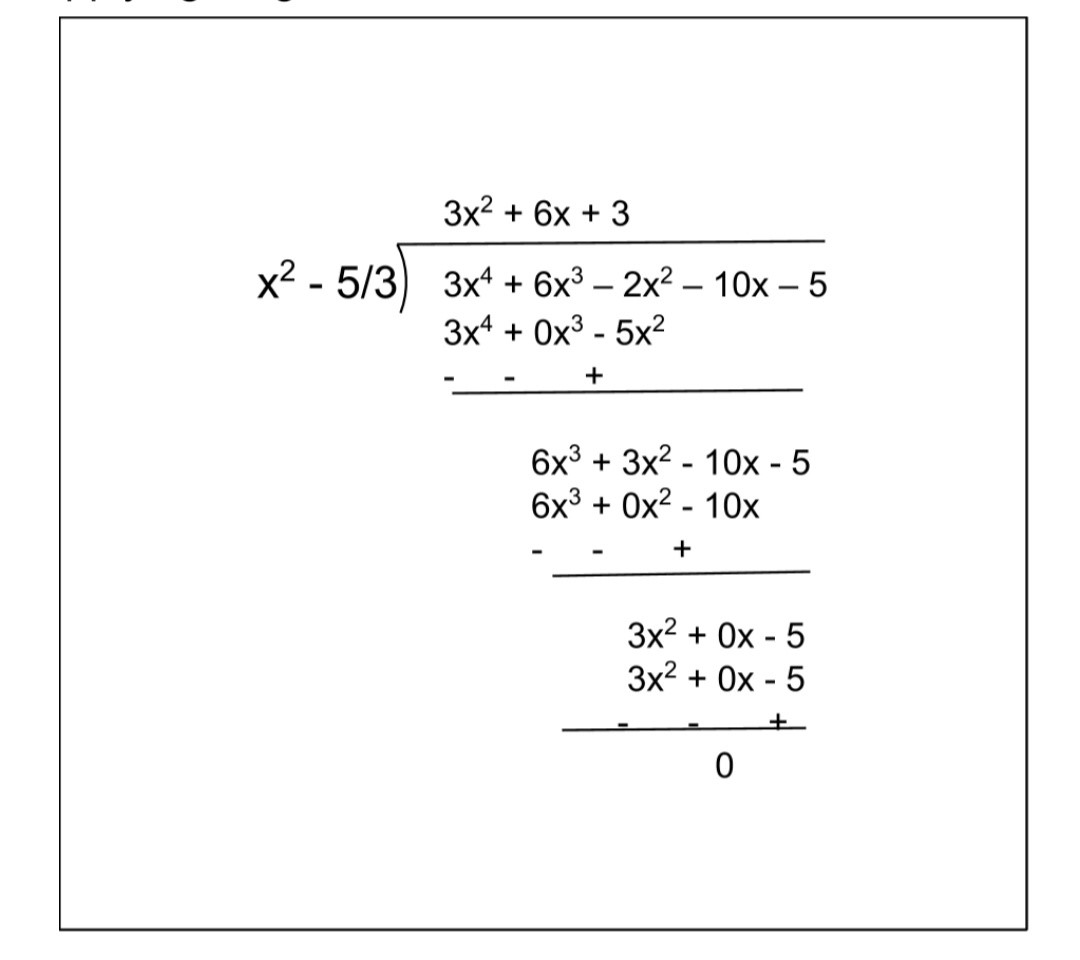 NCERT Solutions For Class 10 Maths Chapter 2 Exercise 2.3 Question 3