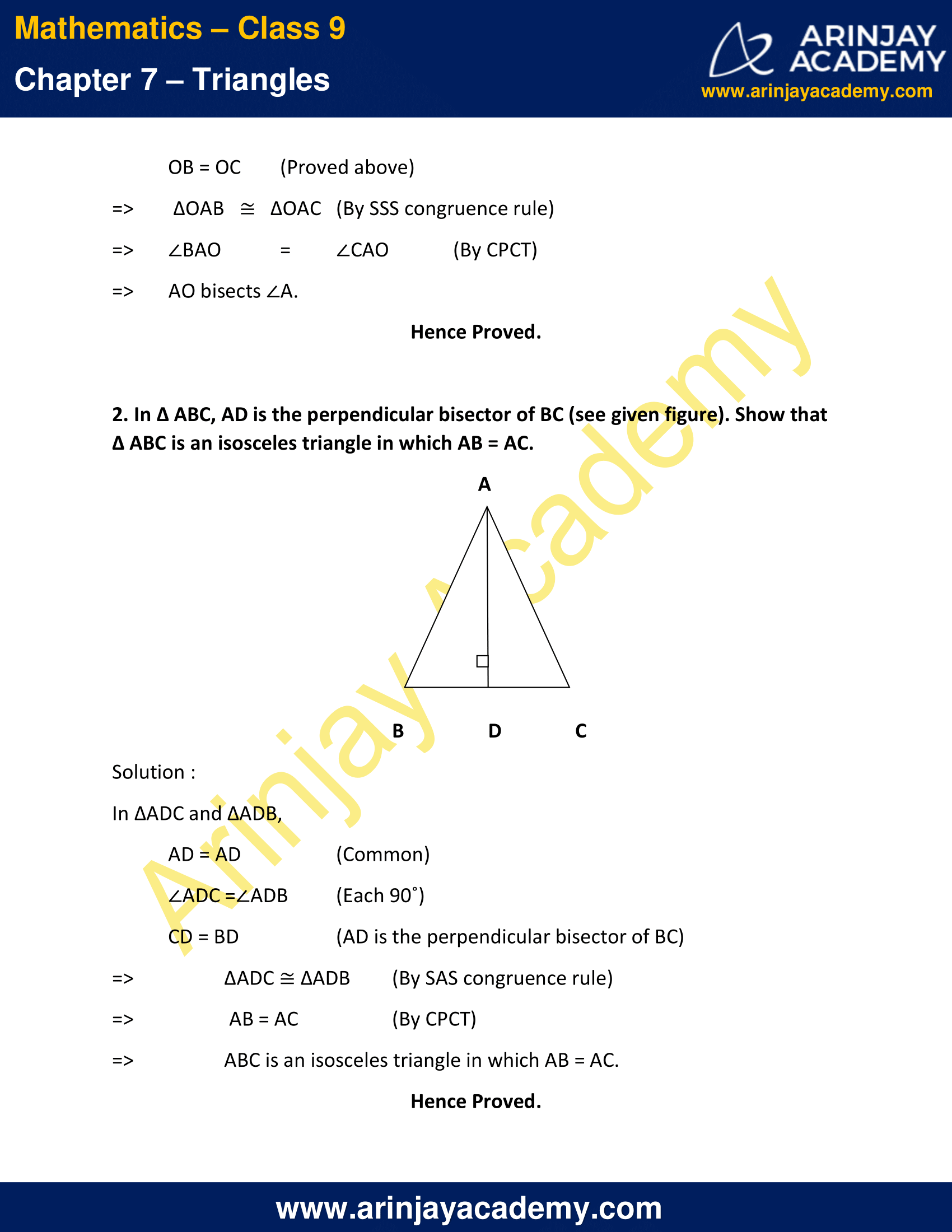 NCERT Solutions for Class 9 Maths Chapter 7 Exercise 7.2 image 2
