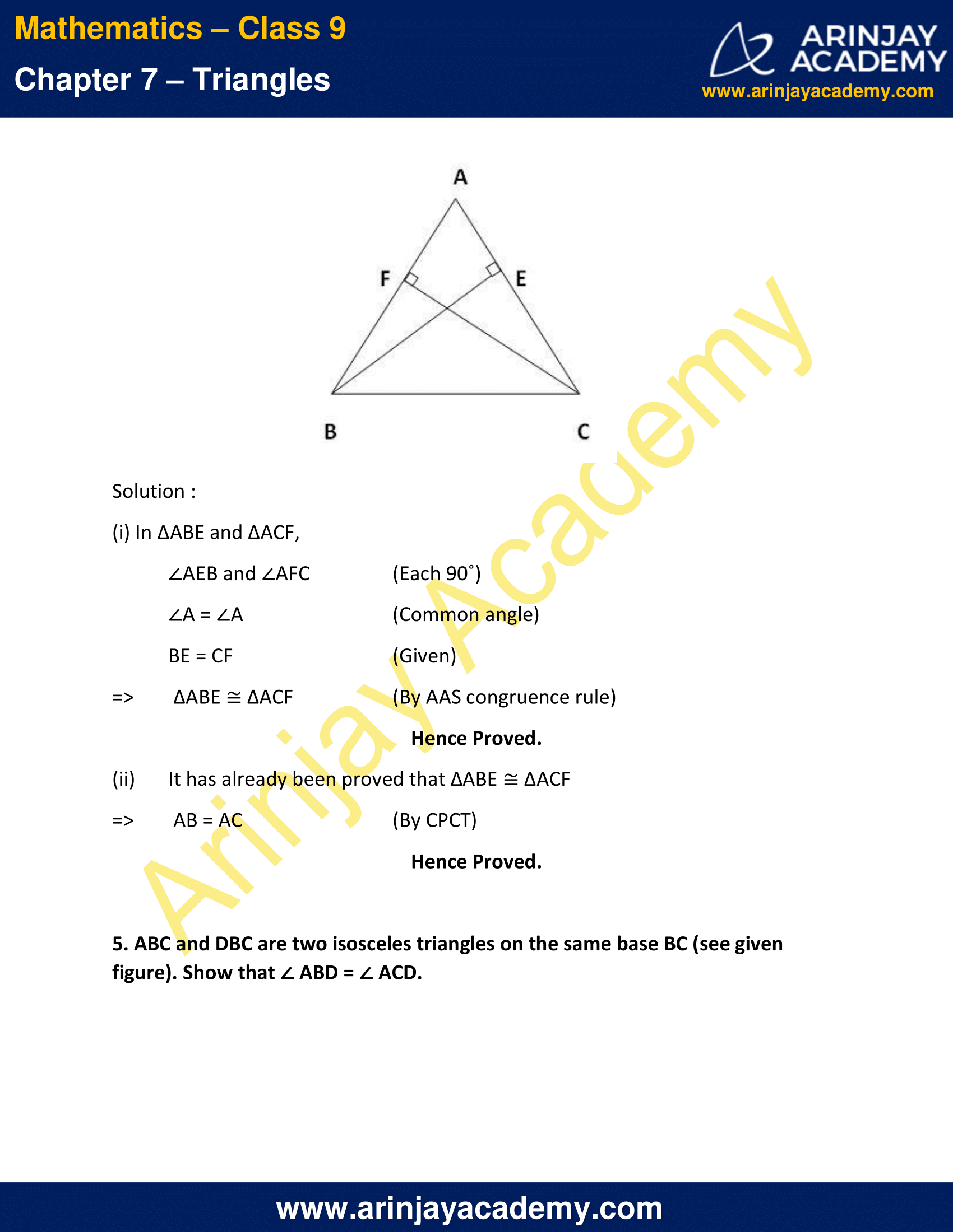 NCERT Solutions for Class 9 Maths Chapter 7 Exercise 7.2 image 4