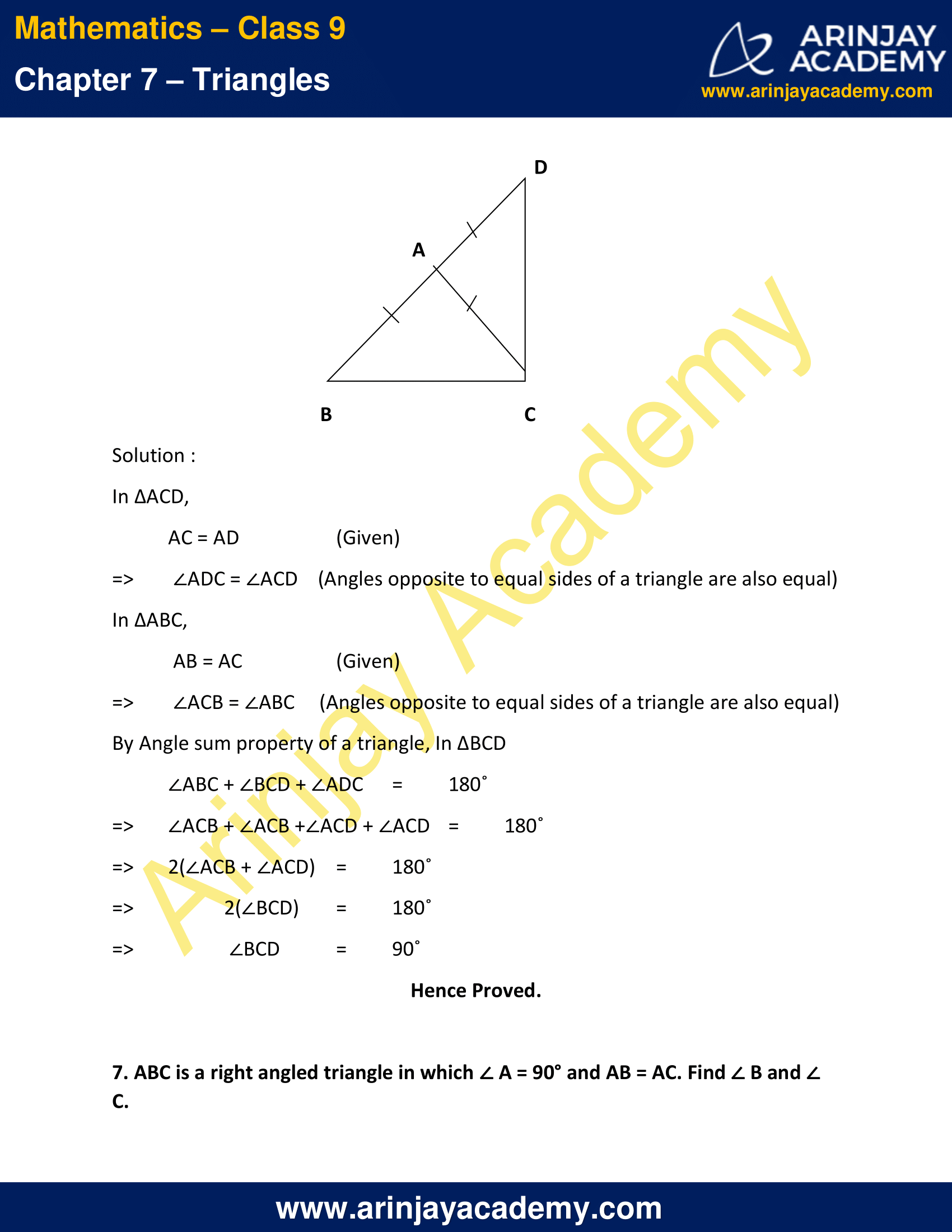 NCERT Solutions for Class 9 Maths Chapter 7 Exercise 7.2 image 6