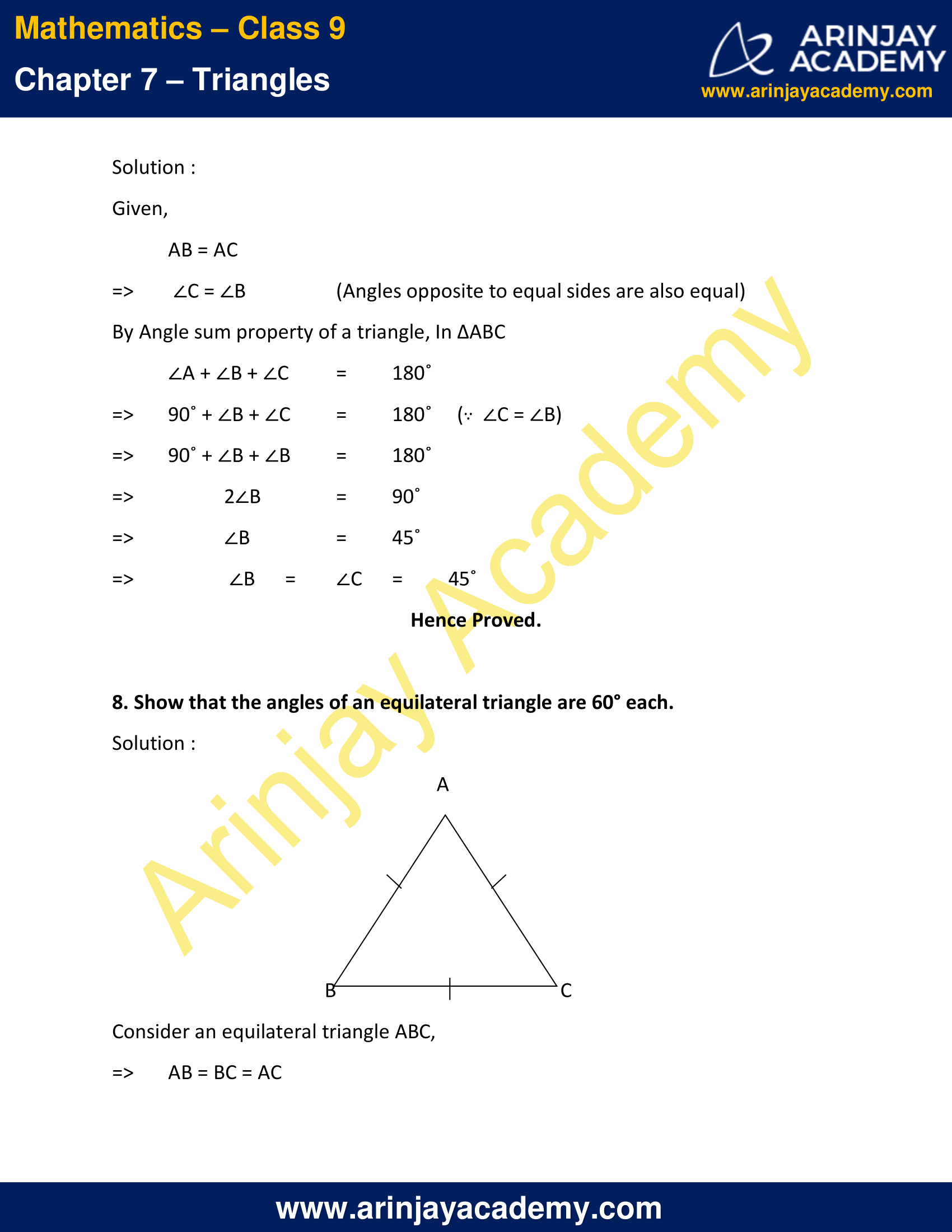 NCERT Solutions for Class 9 Maths Chapter 7 Exercise 7.2 image 7