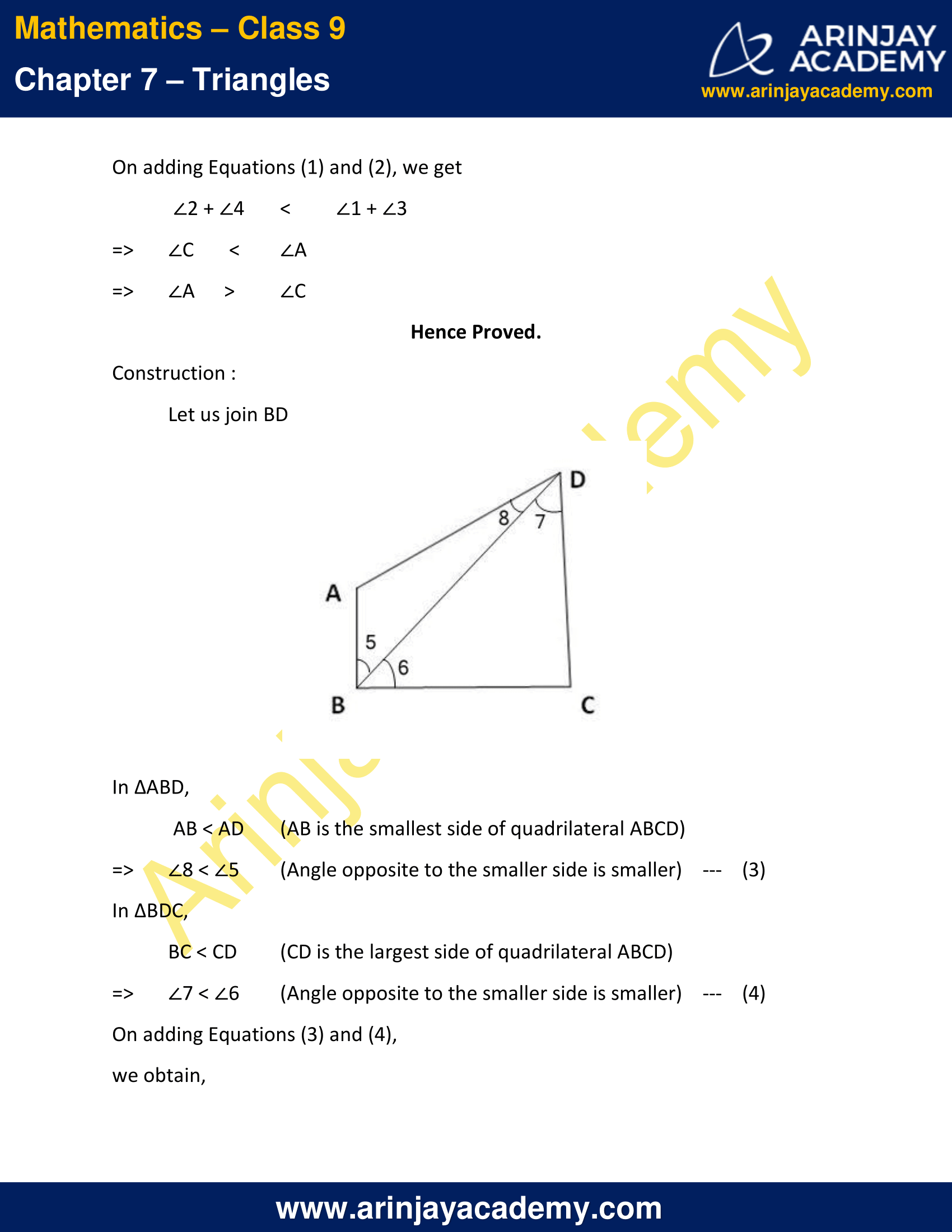 NCERT Solutions for Class 9 Maths Chapter 7 Exercise 7.4 image 5