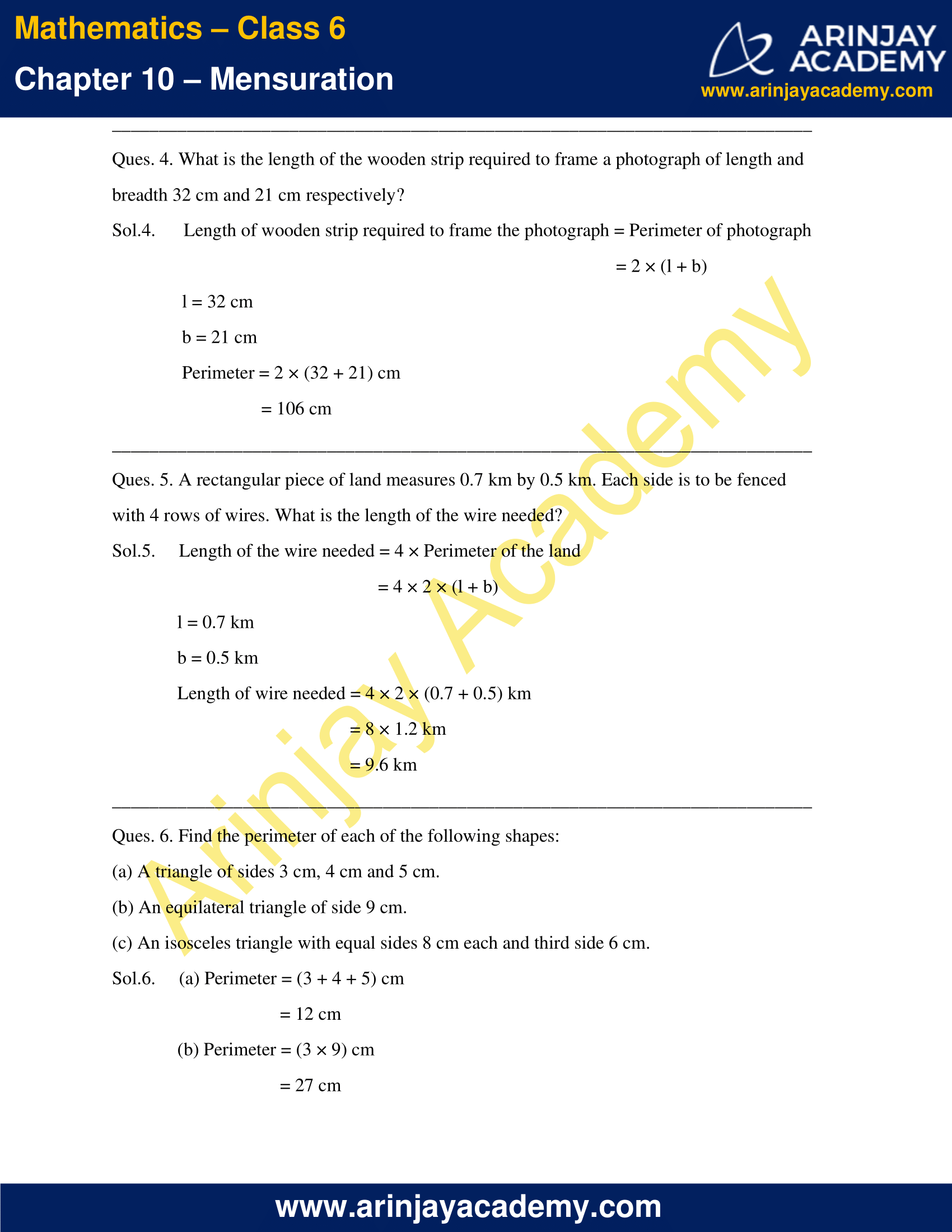 NCERT Solutions for Class 6 Maths Chapter 10 Exercise 10.1 image 4