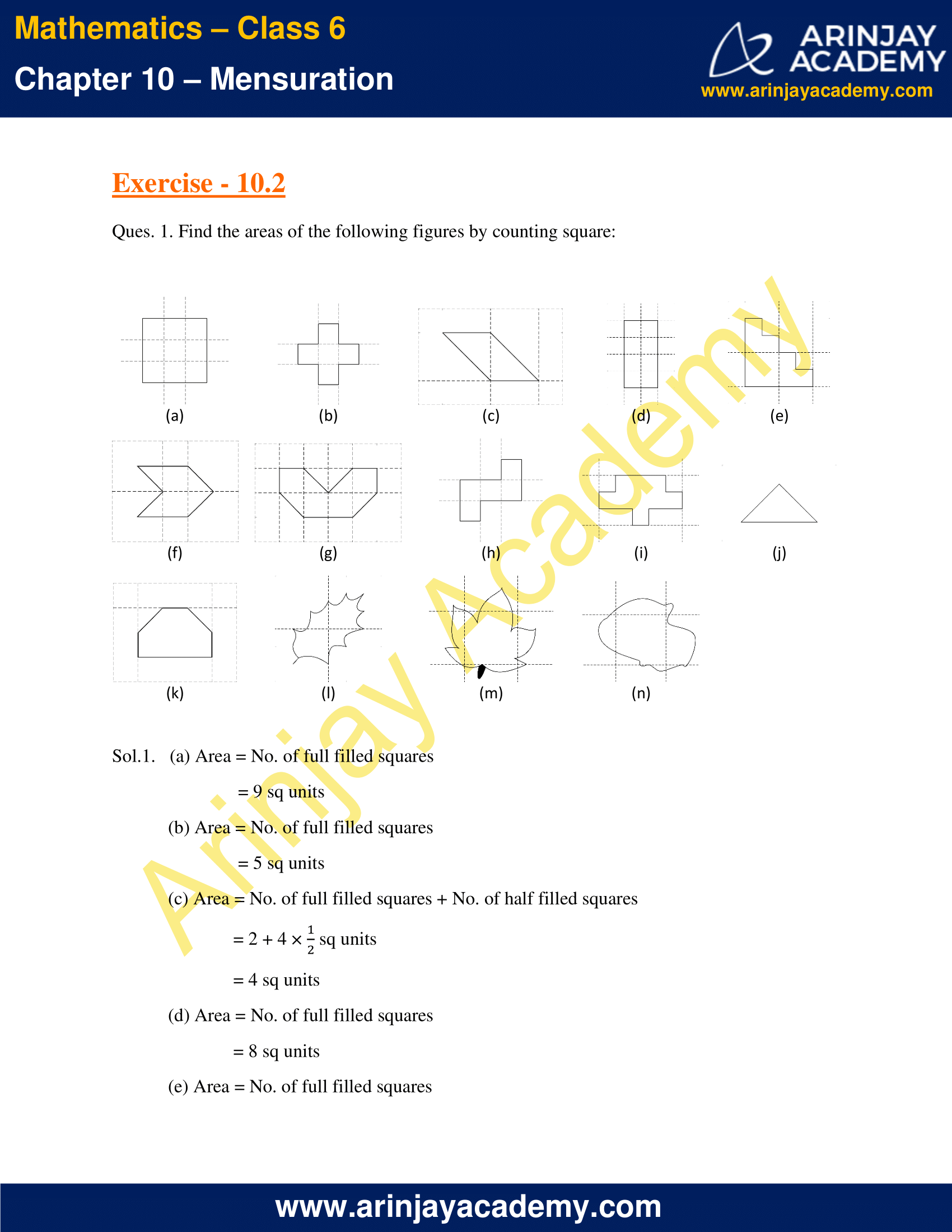 NCERT Solutions for Class 6 Maths Chapter 10 Exercise 10.2 image 1