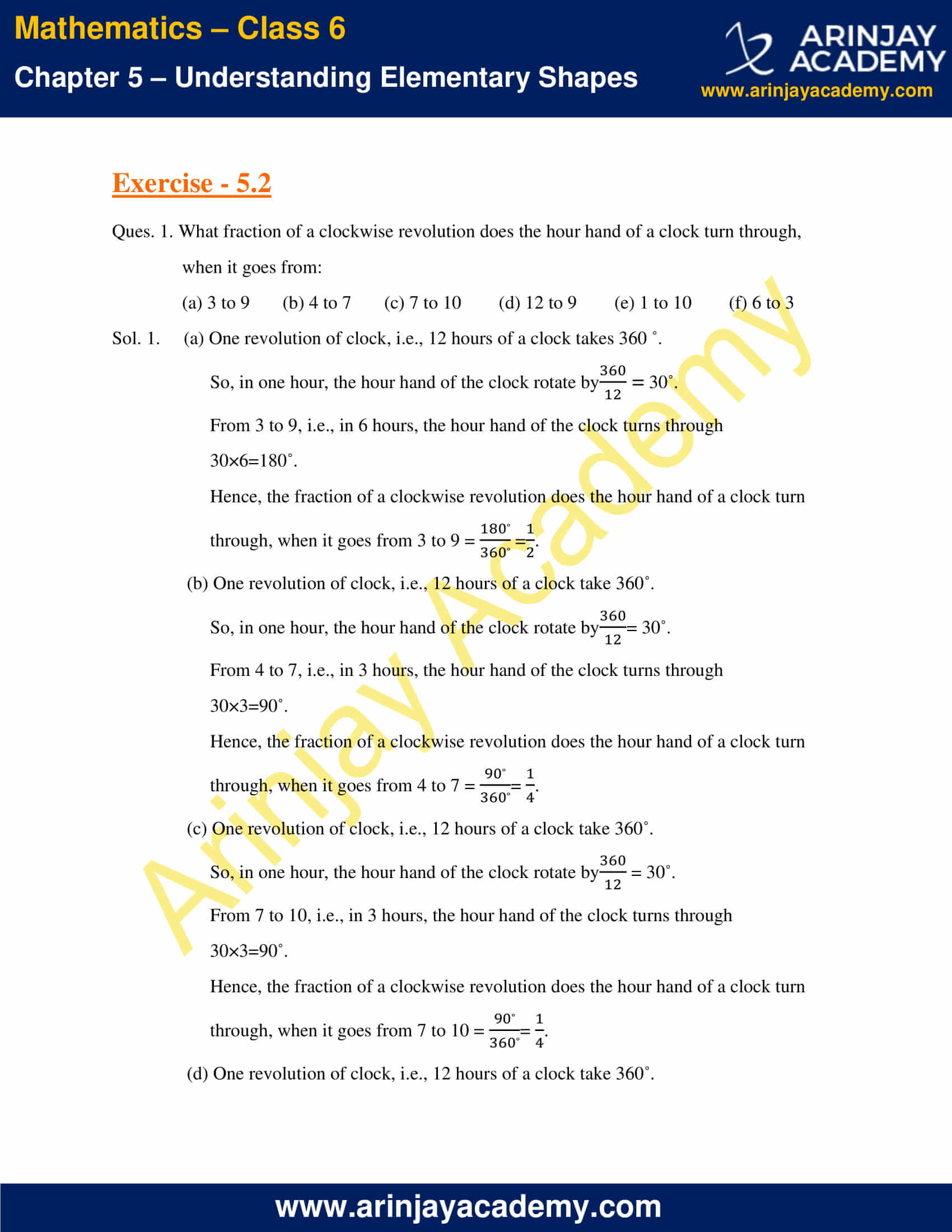 NCERT Solutions for Class 6 Maths Chapter 5 Exercise 5.2 image 1
