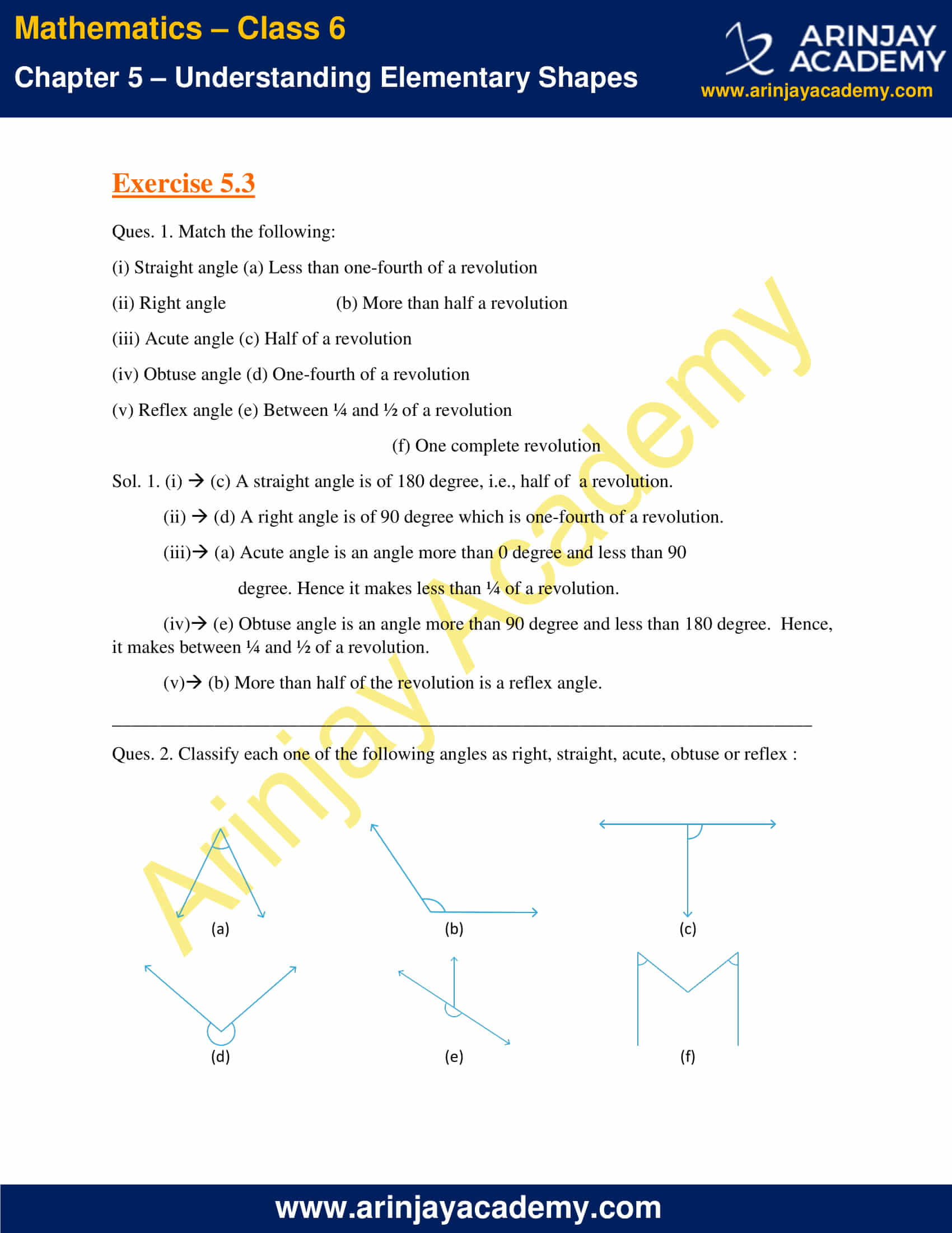 NCERT Solutions for Class 6 Maths Chapter 5 Exercise 5.3 image 1