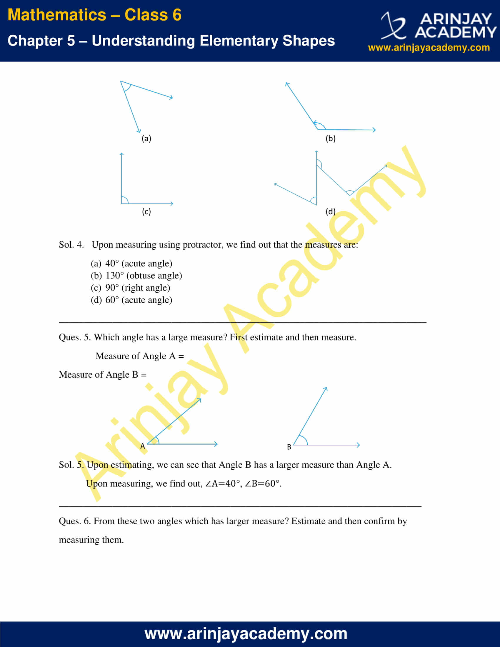 NCERT Solutions for Class 6 Maths Chapter 5 Exercise 5.4 image 2