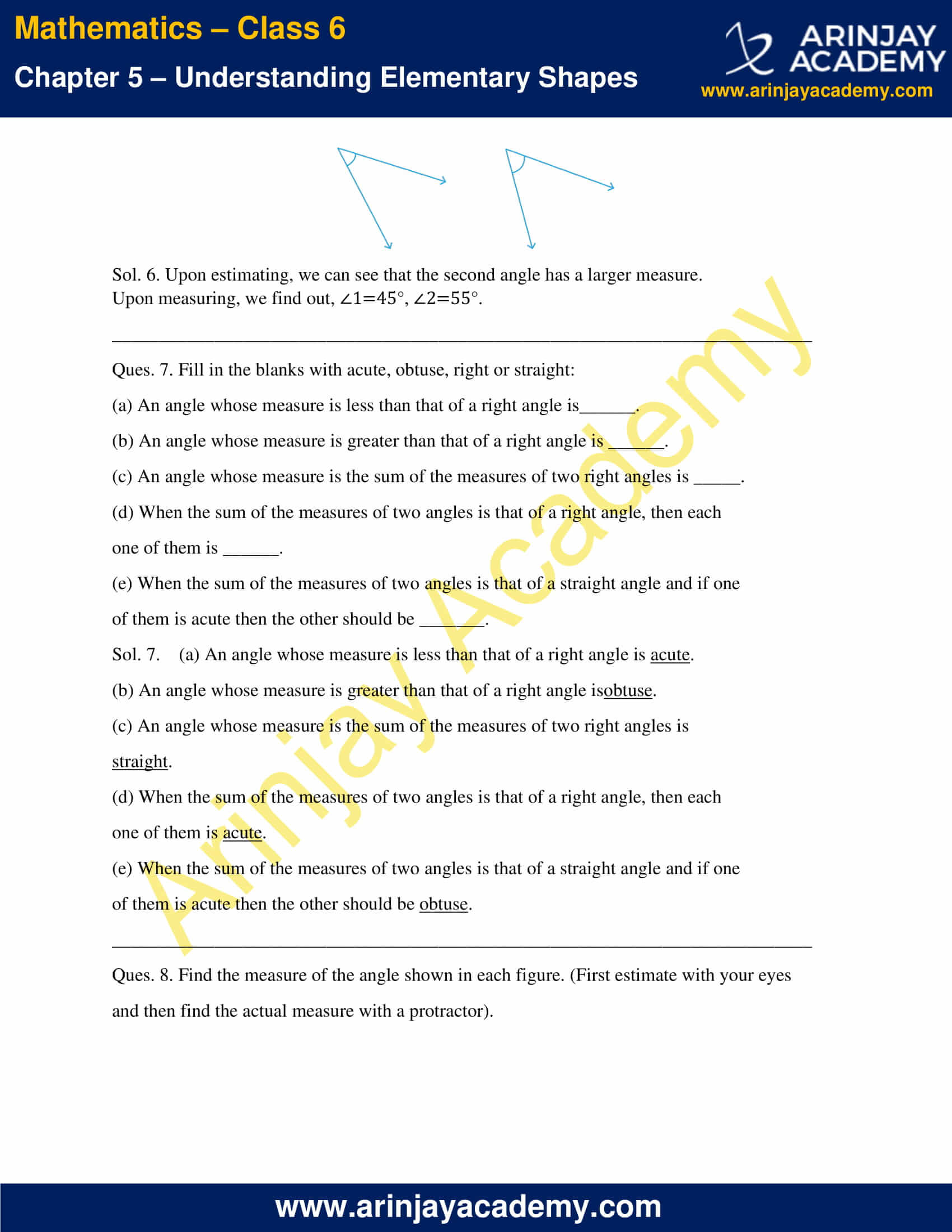 NCERT Solutions for Class 6 Maths Chapter 5 Exercise 5.4 image 3