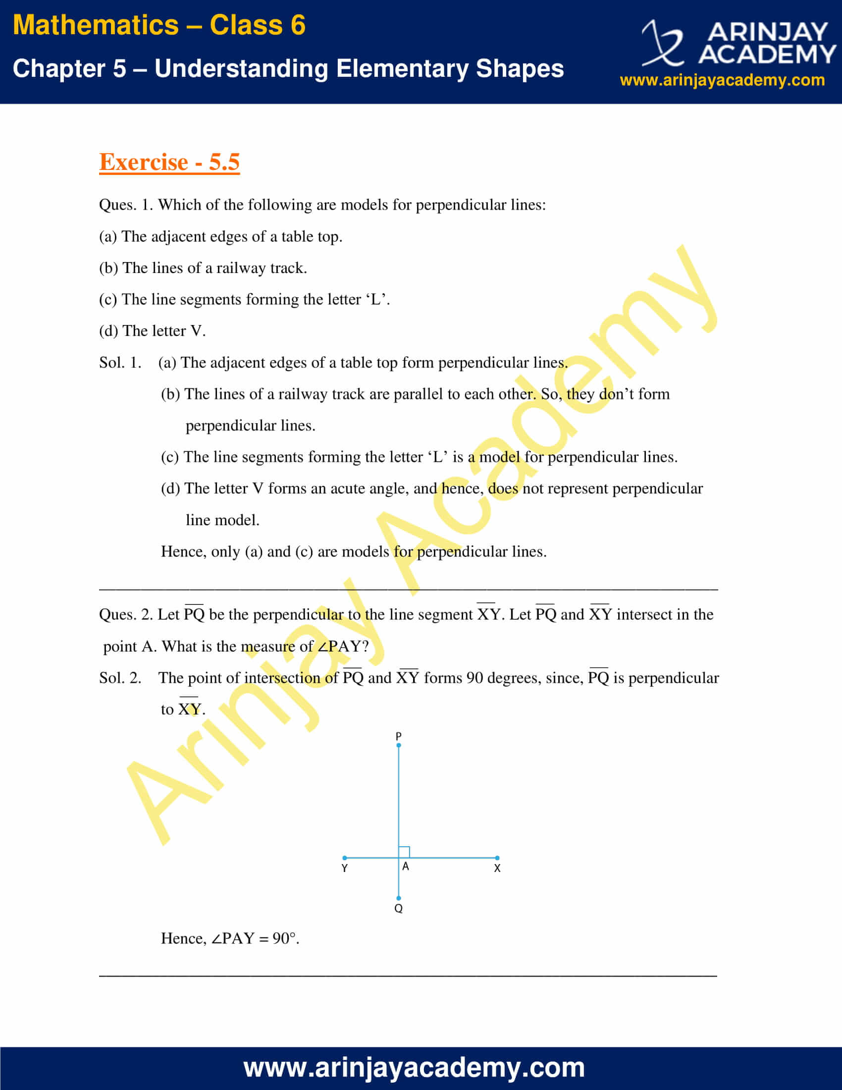 NCERT Solutions for Class 6 Maths Chapter 5 Exercise 5.5 image 1