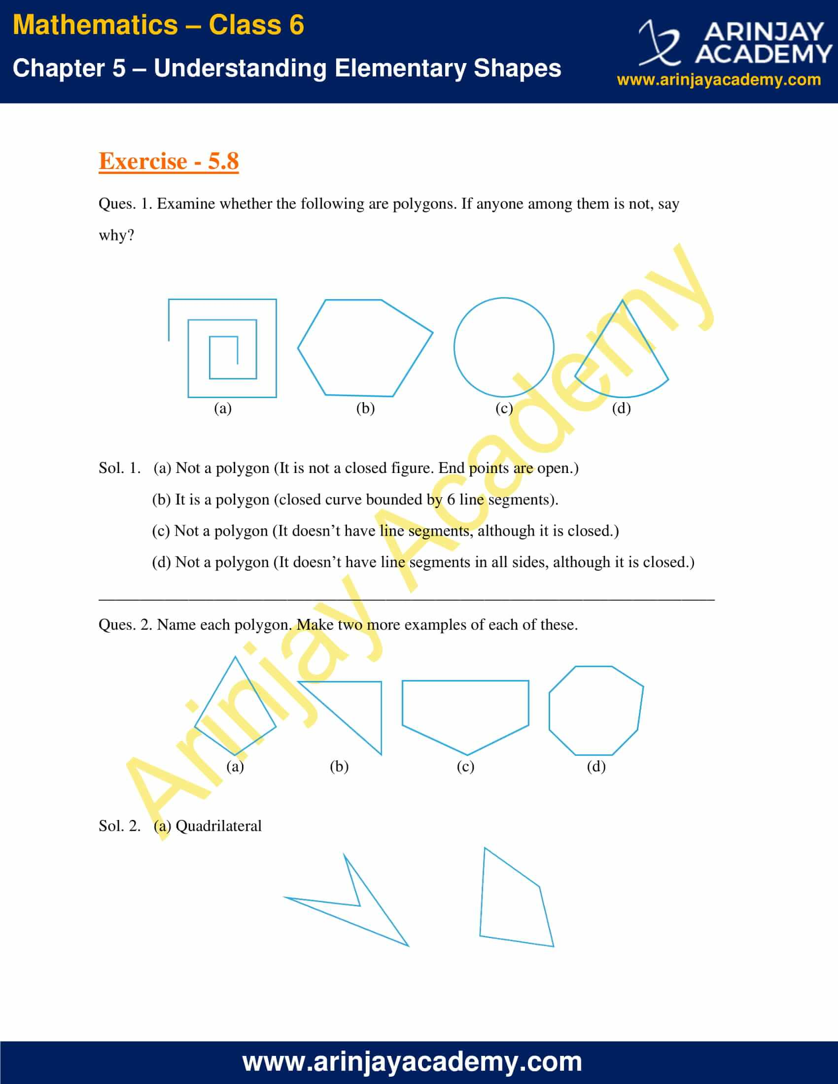 NCERT Solutions for Class 6 Maths Chapter 5 Exercise 5.8 image 1