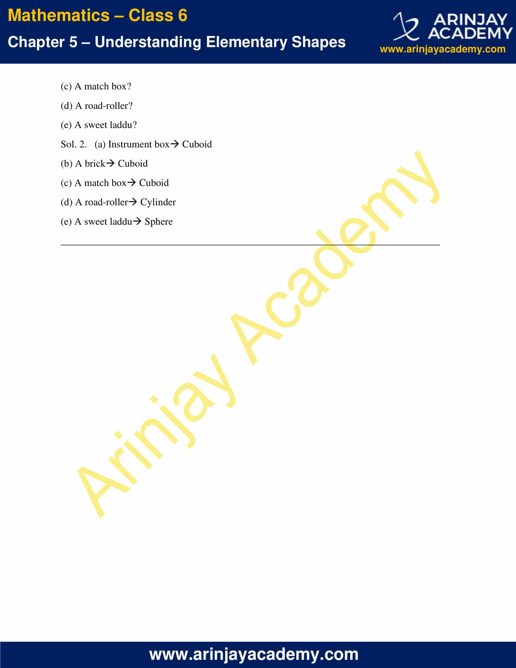 NCERT Solutions for Class 6 Maths Chapter 5 Exercise 5.9 image 2