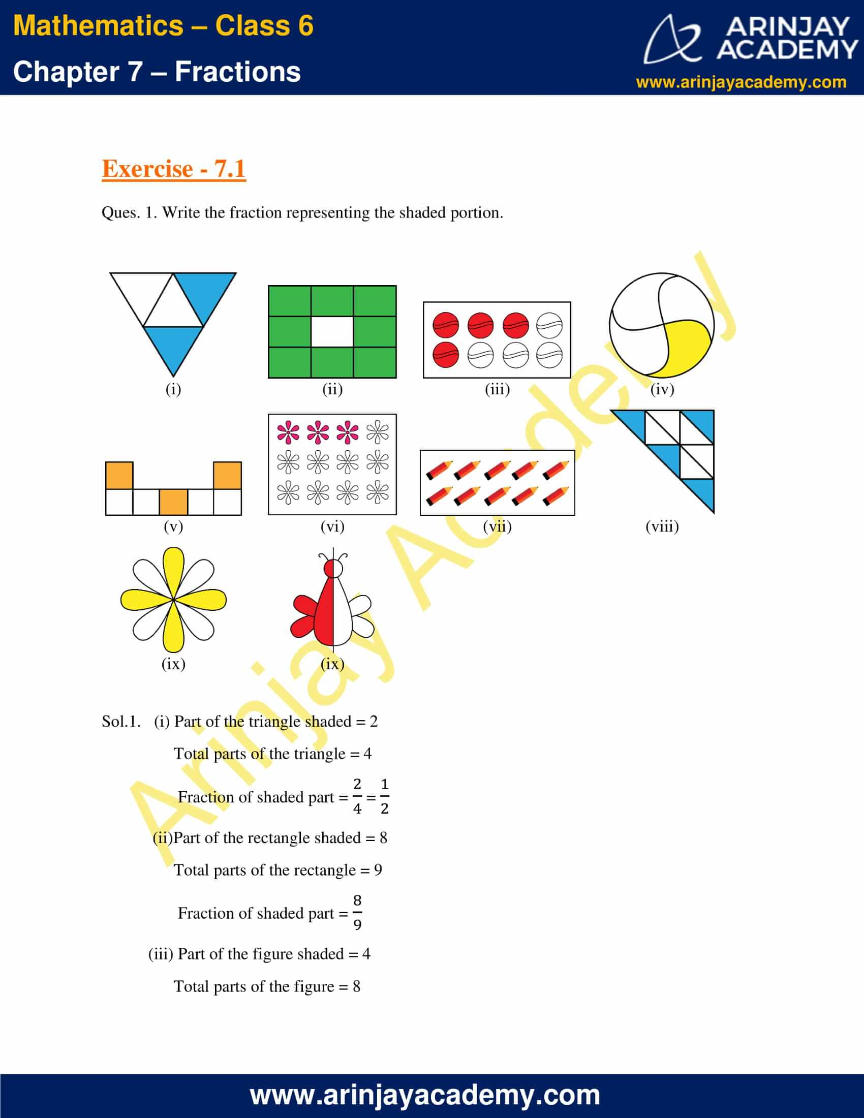 NCERT Solutions for Class 6 Maths Chapter 7 Exercise 7.1 image 1
