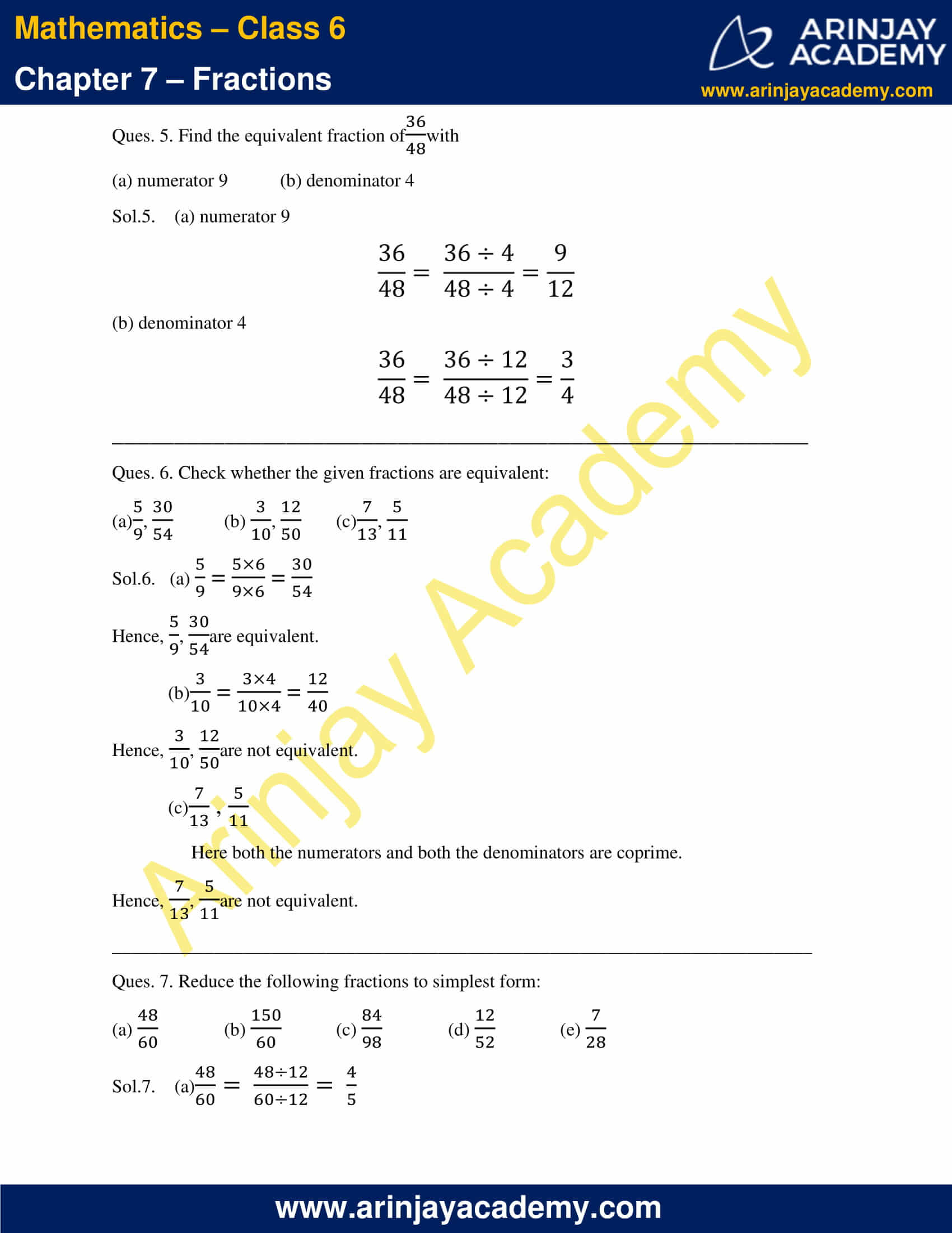 NCERT Solutions for Class 6 Maths Chapter 7 Exercise 7.3 image 4