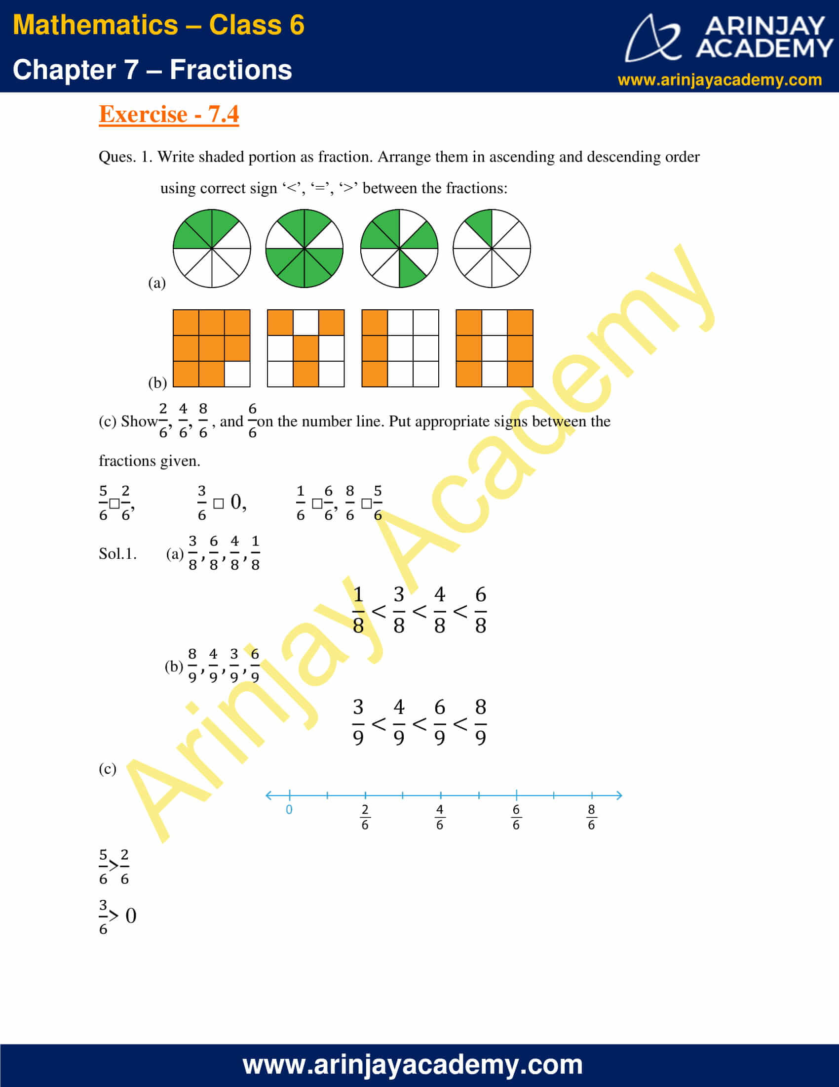 NCERT Solutions for Class 6 Maths Chapter 7 Exercise 7.4 image 1
