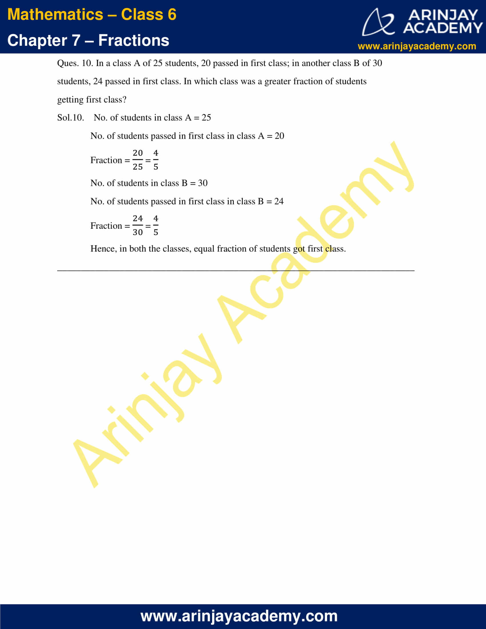 NCERT Solutions for Class 6 Maths Chapter 7 Exercise 7.4 image 9