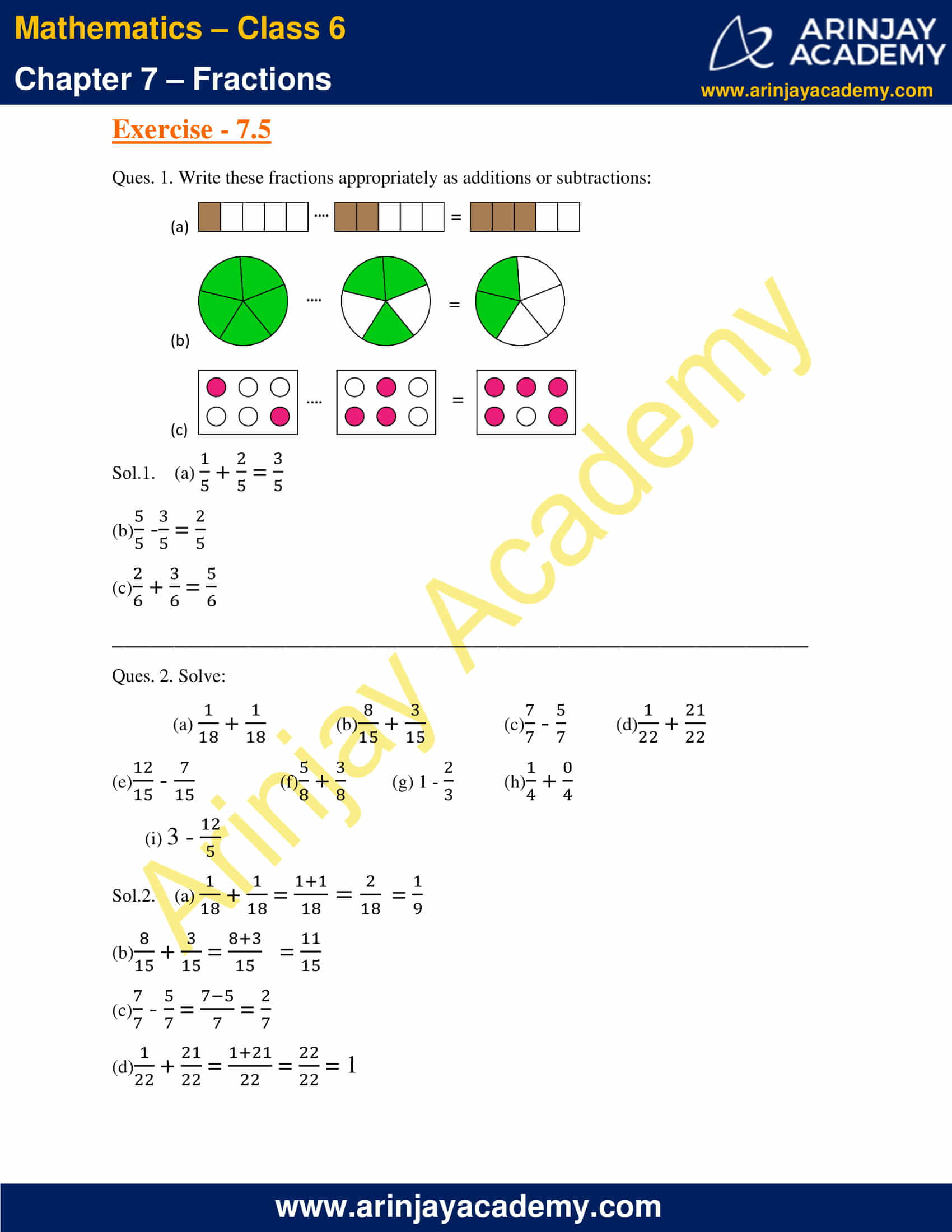 NCERT Solutions for Class 6 Maths Chapter 7 Exercise 7.5 image 1
