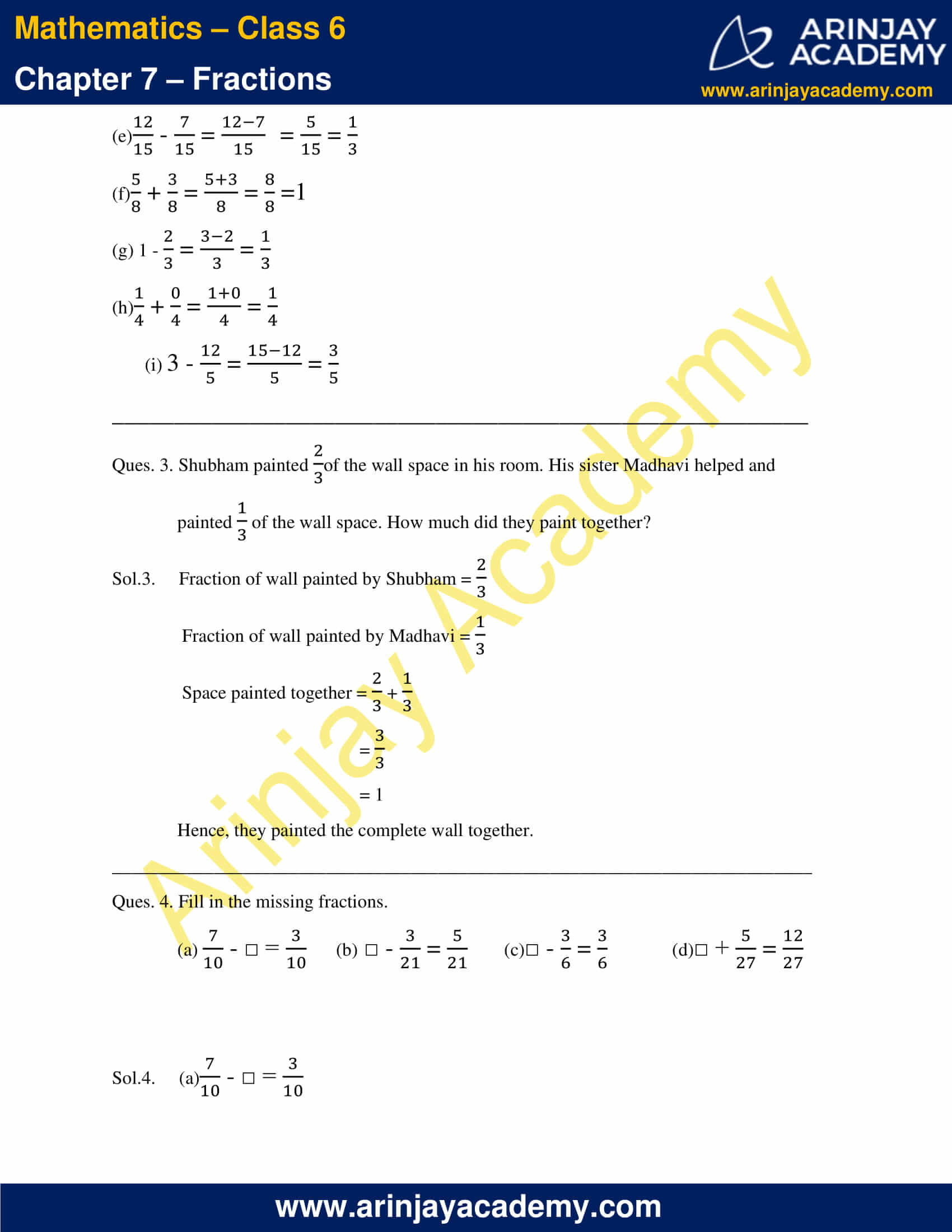 NCERT Solutions for Class 6 Maths Chapter 7 Exercise 7.5 image 2