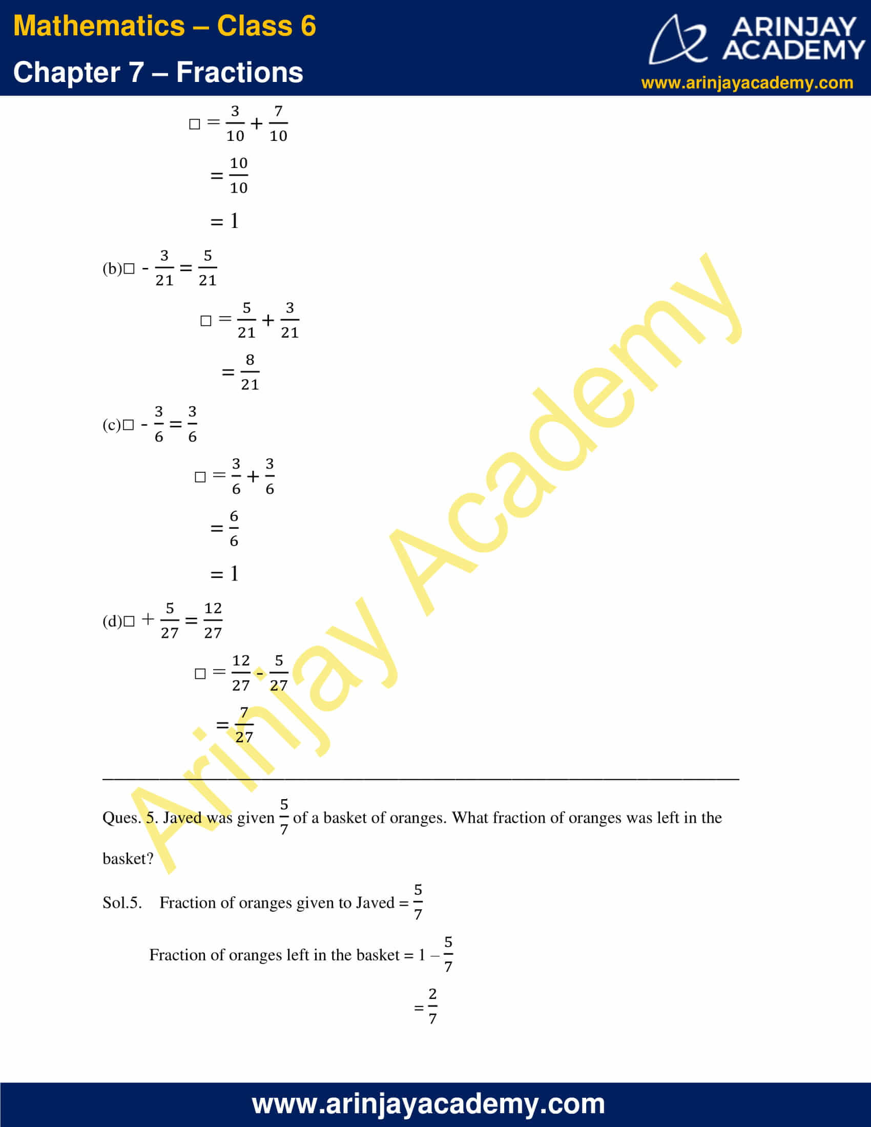 NCERT Solutions for Class 6 Maths Chapter 7 Exercise 7.5 image 3