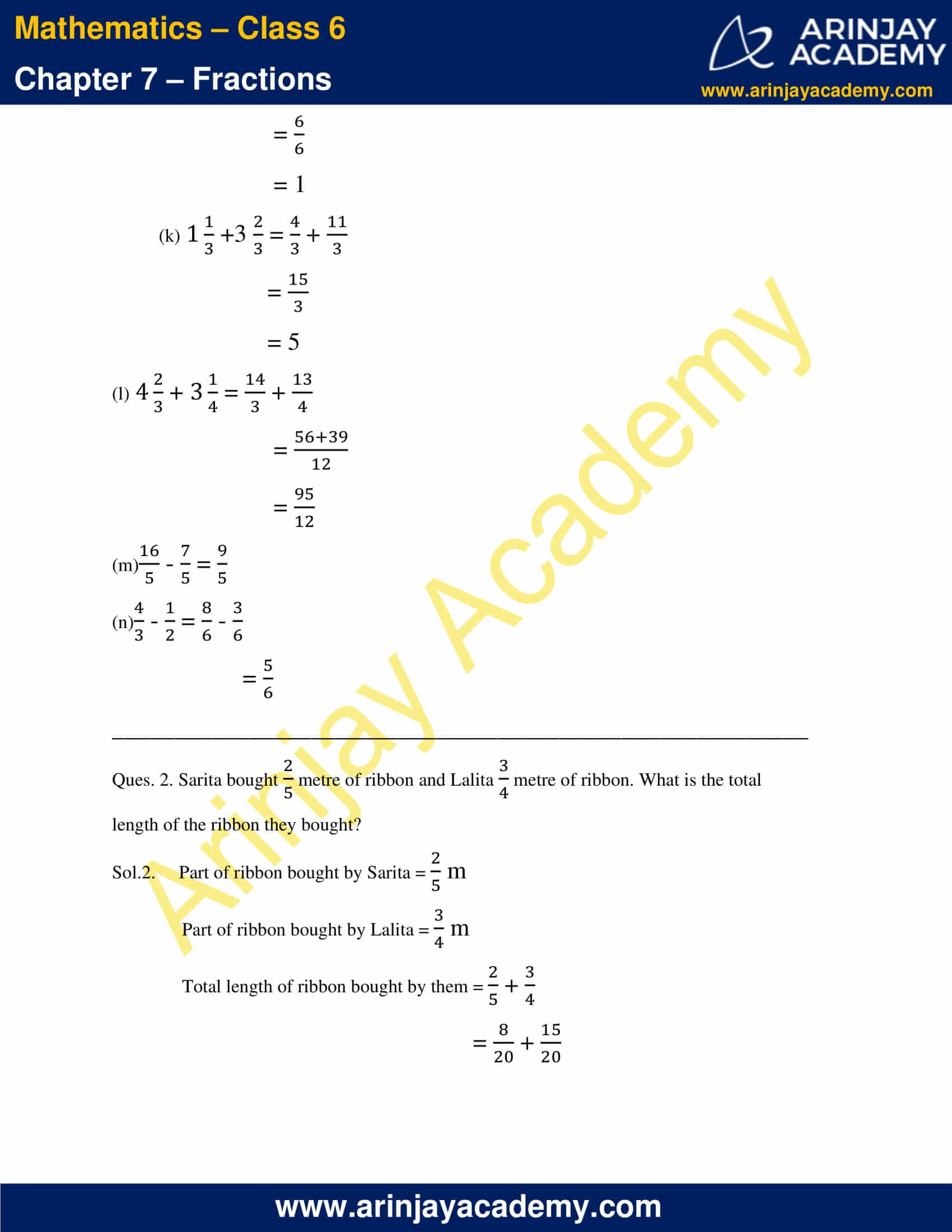 NCERT Solutions for Class 6 Maths Chapter 7 Exercise 7.6 image 3