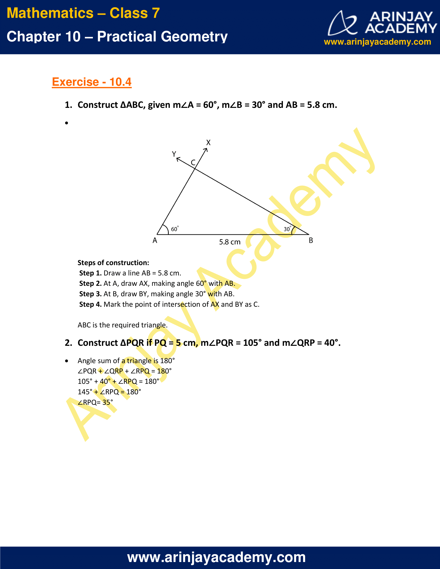 NCERT Solutions for Class 7 Maths Chapter 10 Exercise 10.4 image 1