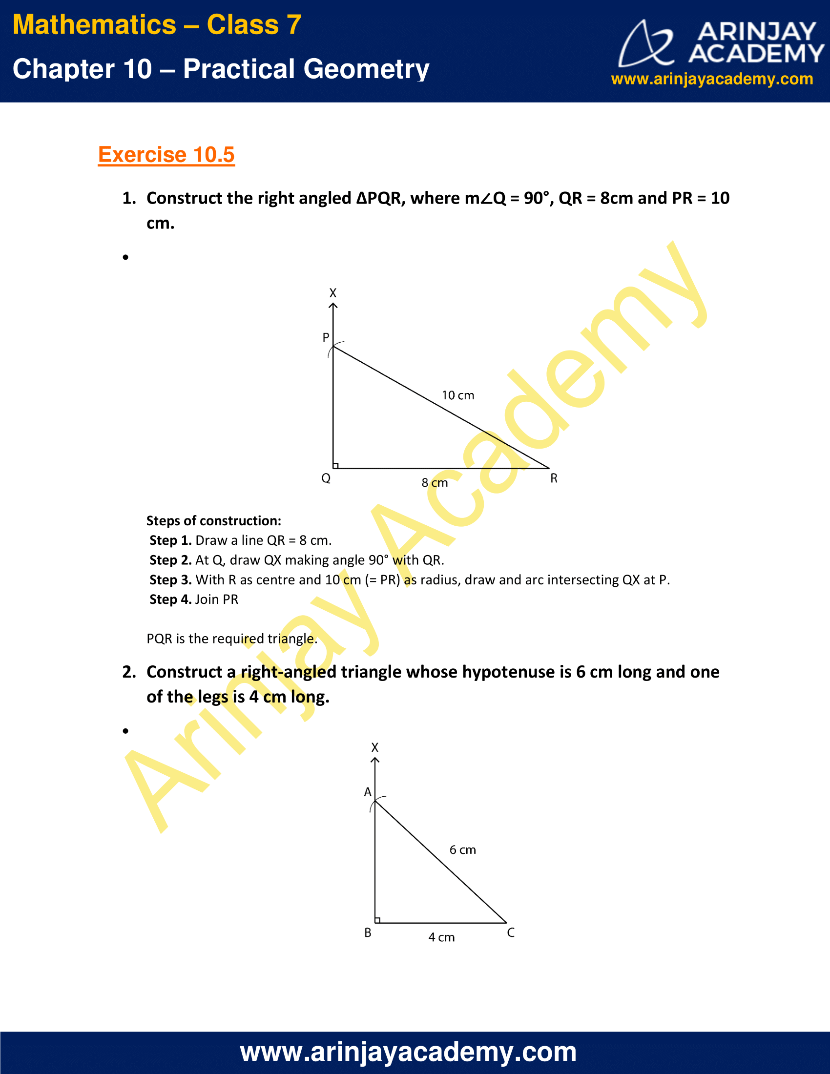 NCERT Solutions for Class 7 Maths Chapter 10 Exercise 10.5 image 1
