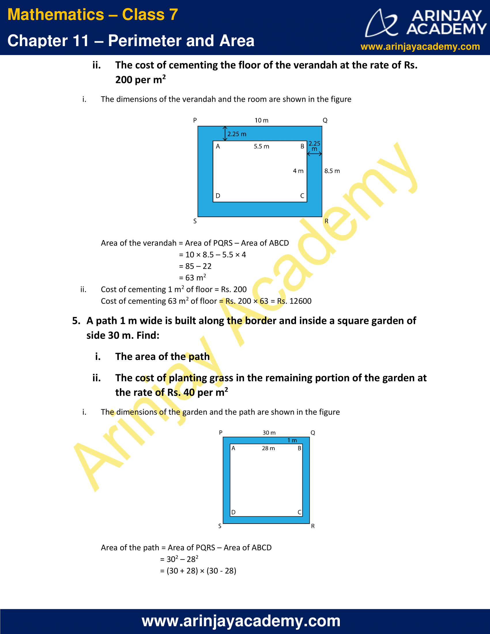 NCERT Solutions for Class 7 Maths Chapter 11 Exercise 11.4 image 3