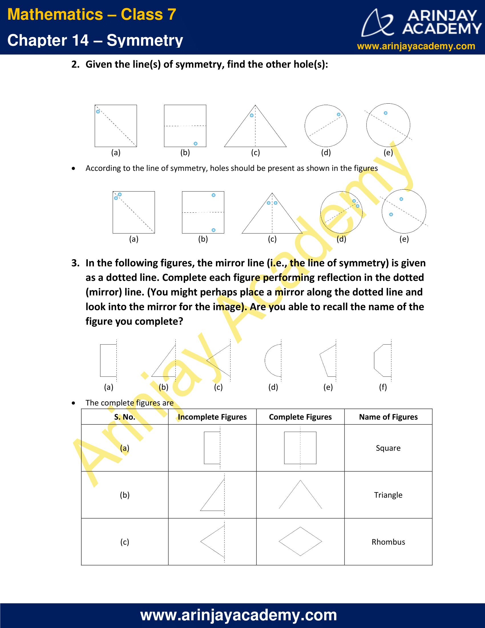 NCERT Solutions for Class 7 Maths Chapter 14 Exercise 14.1 image 2