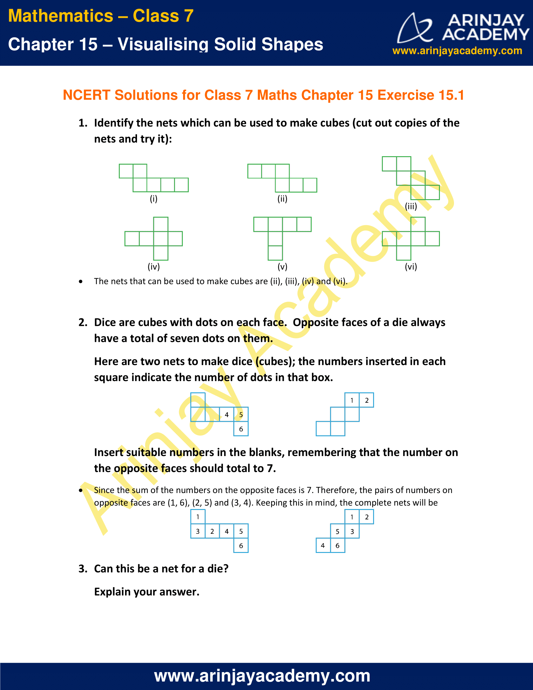 NCERT Solutions for Class 7 Maths Chapter 15 Exercise 15.1 image 1