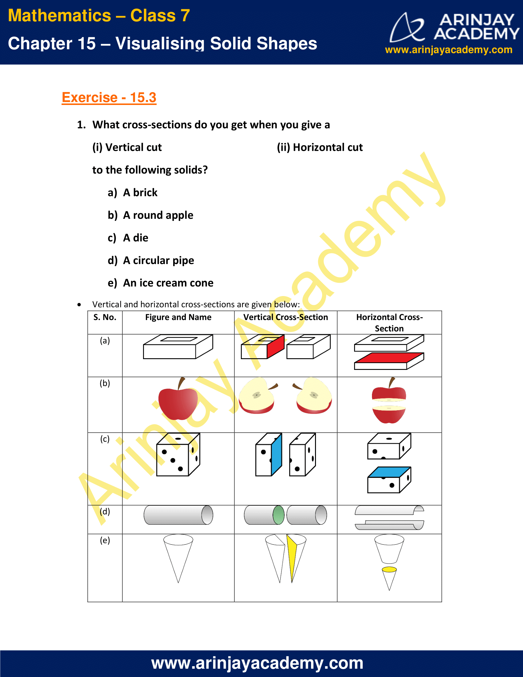 NCERT Solutions for Class 7 Maths Chapter 15 Exercise 15.3 image 1