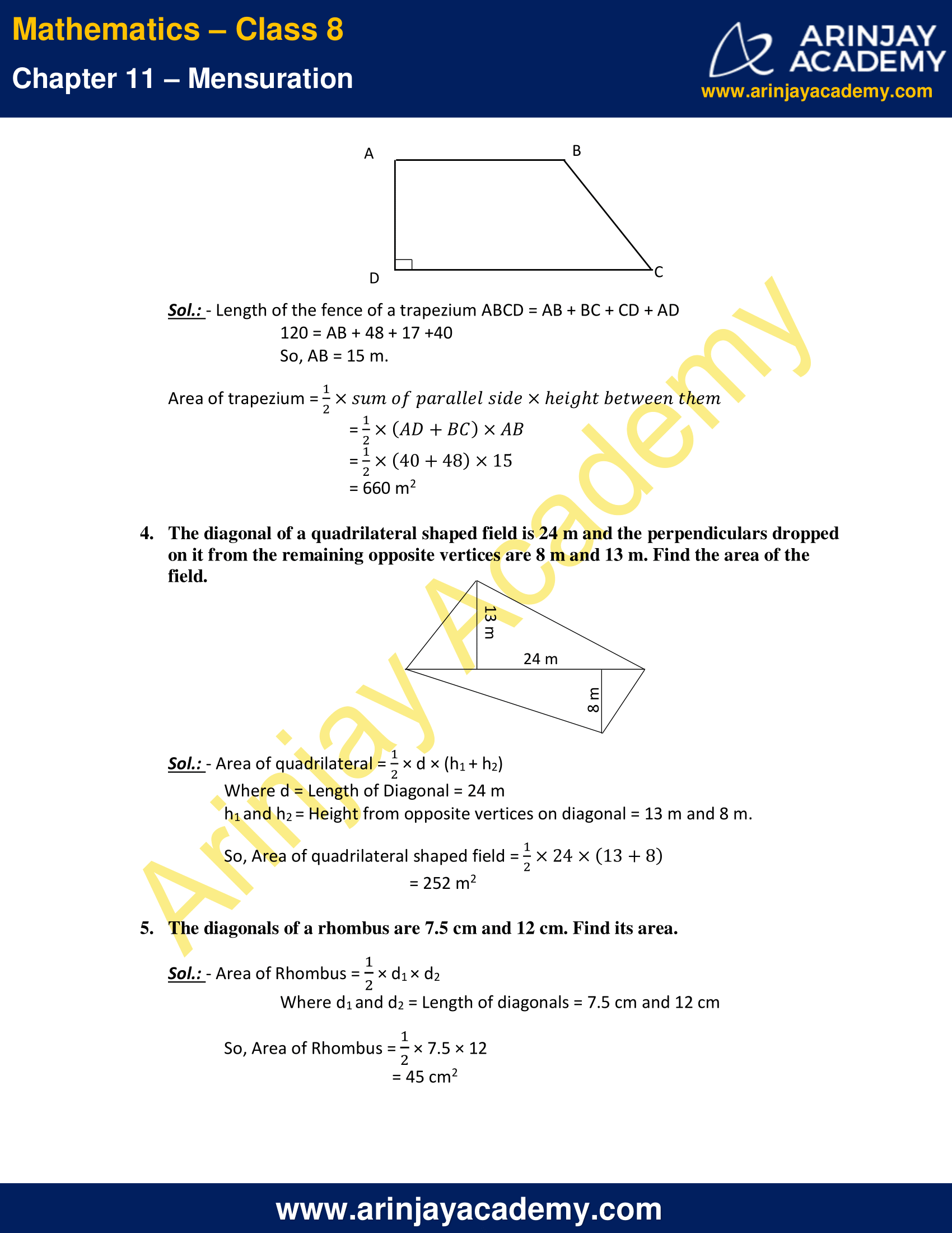NCERT Solutions for Class 8 Maths Chapter 11 Exercise 11.2 image 2