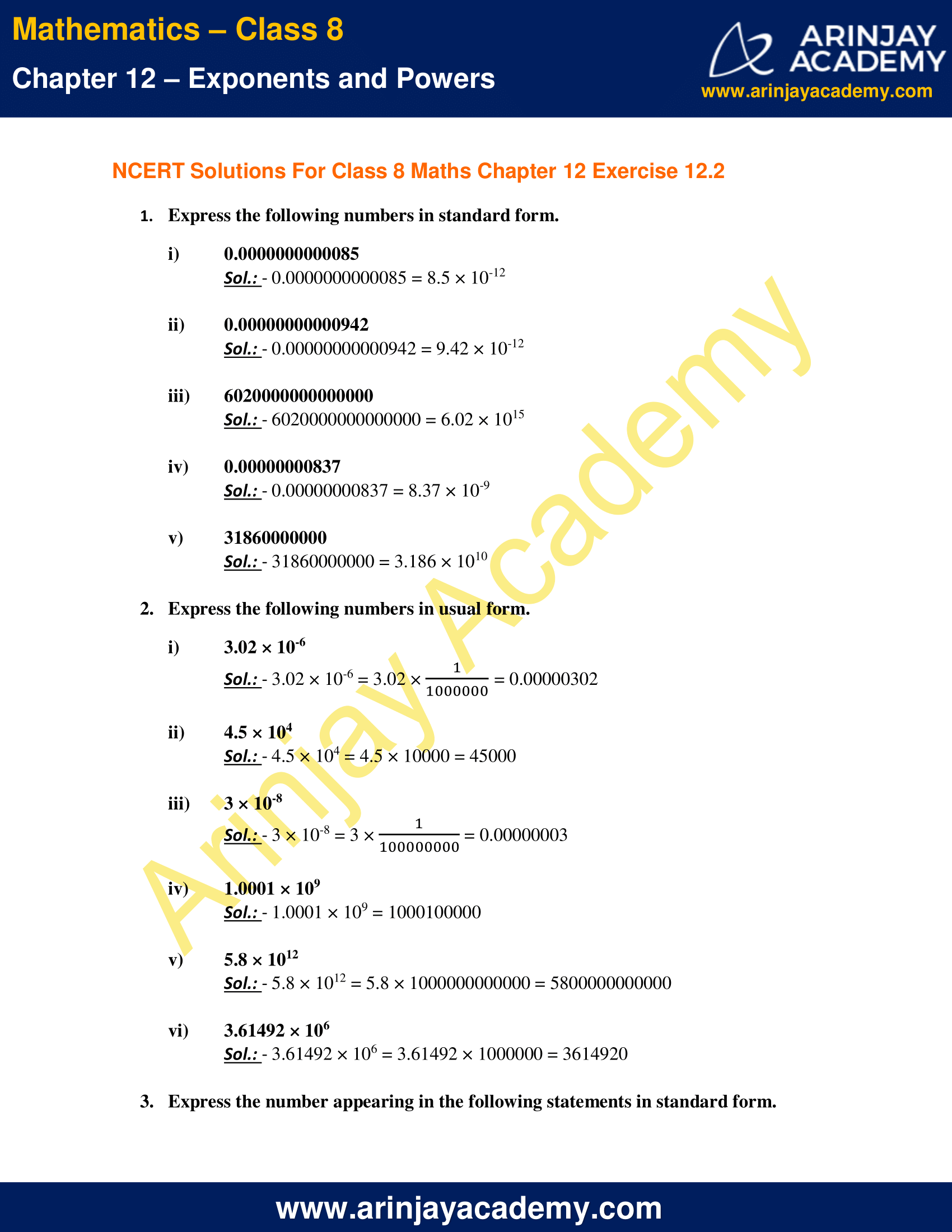 NCERT Solutions for Class 8 Maths Chapter 12 Exercise 12.2 image 1