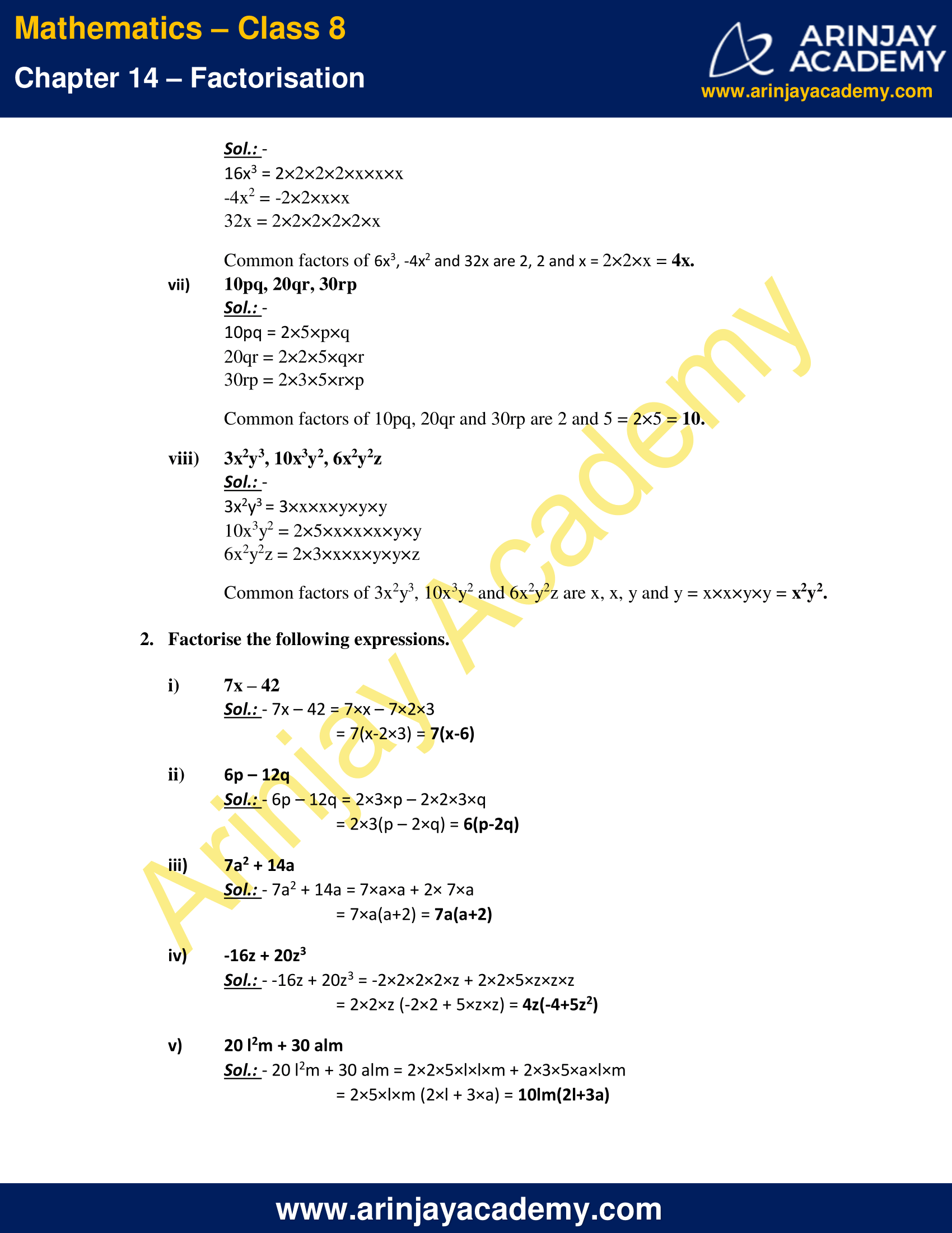 NCERT Solutions for Class 8 Maths Chapter 14 Exercise 14.1 image 2