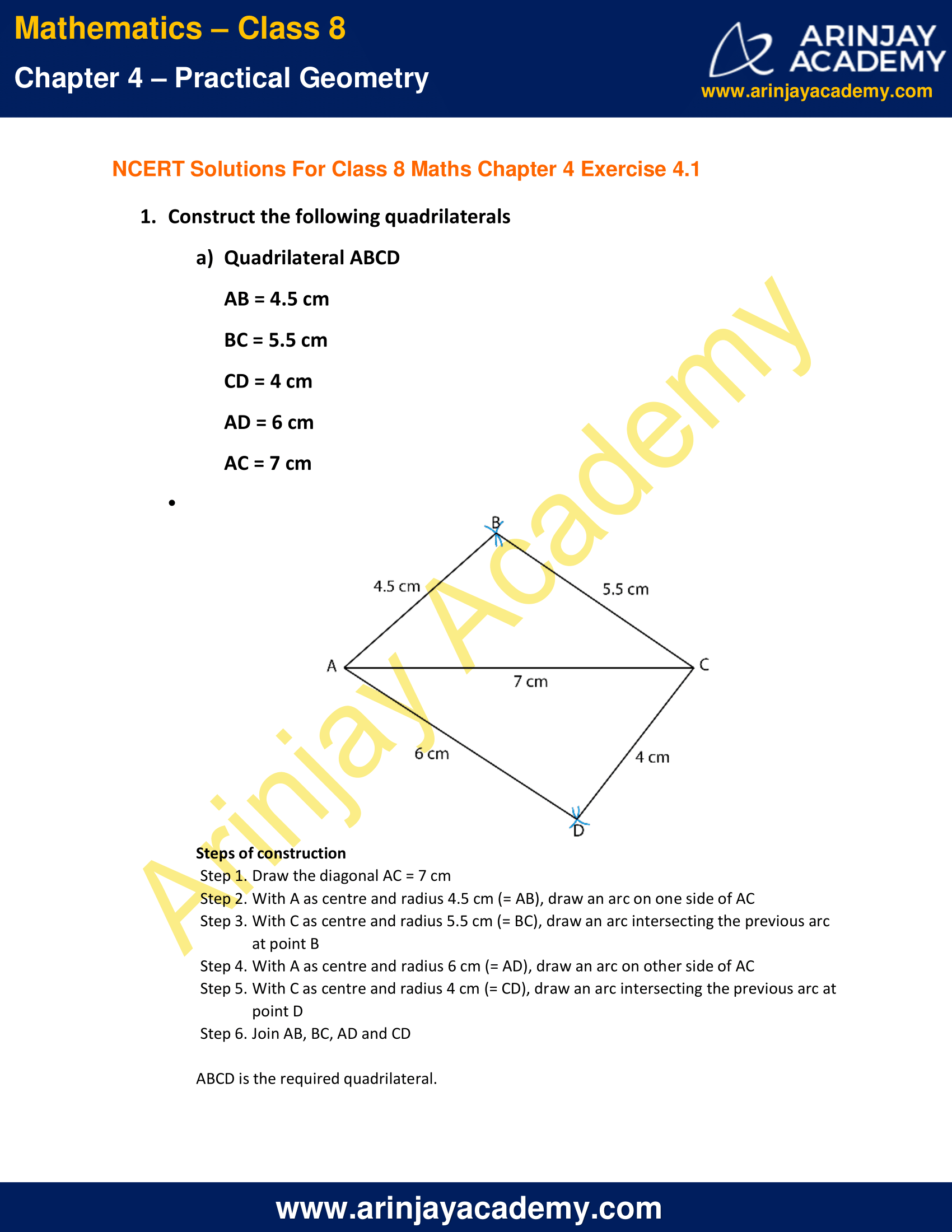 NCERT Solutions for Class 8 Maths Chapter 4 Exercise 4.1 image 1