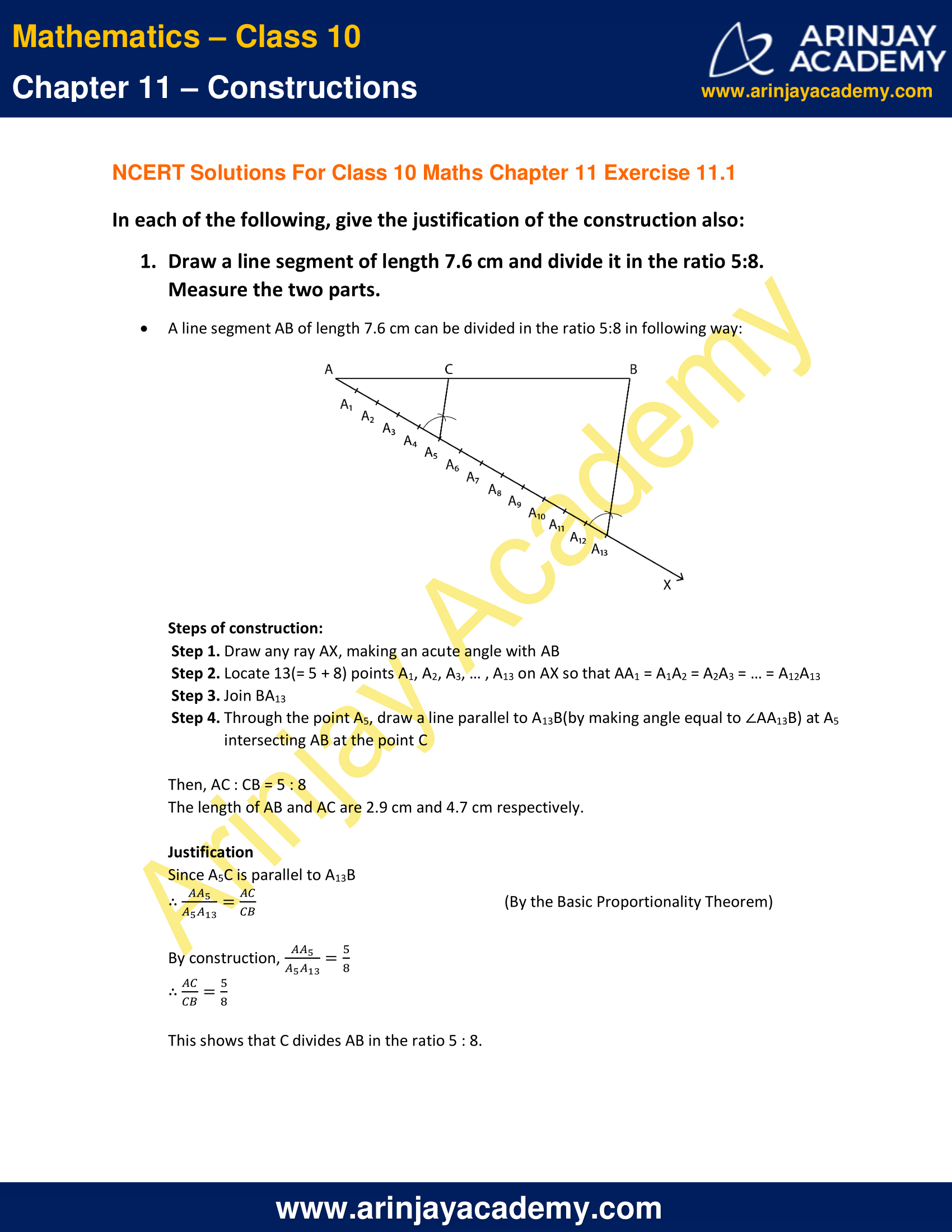 NCERT Solutions For Class 10 Maths Chapter 11 Exercise 11.1 image 1