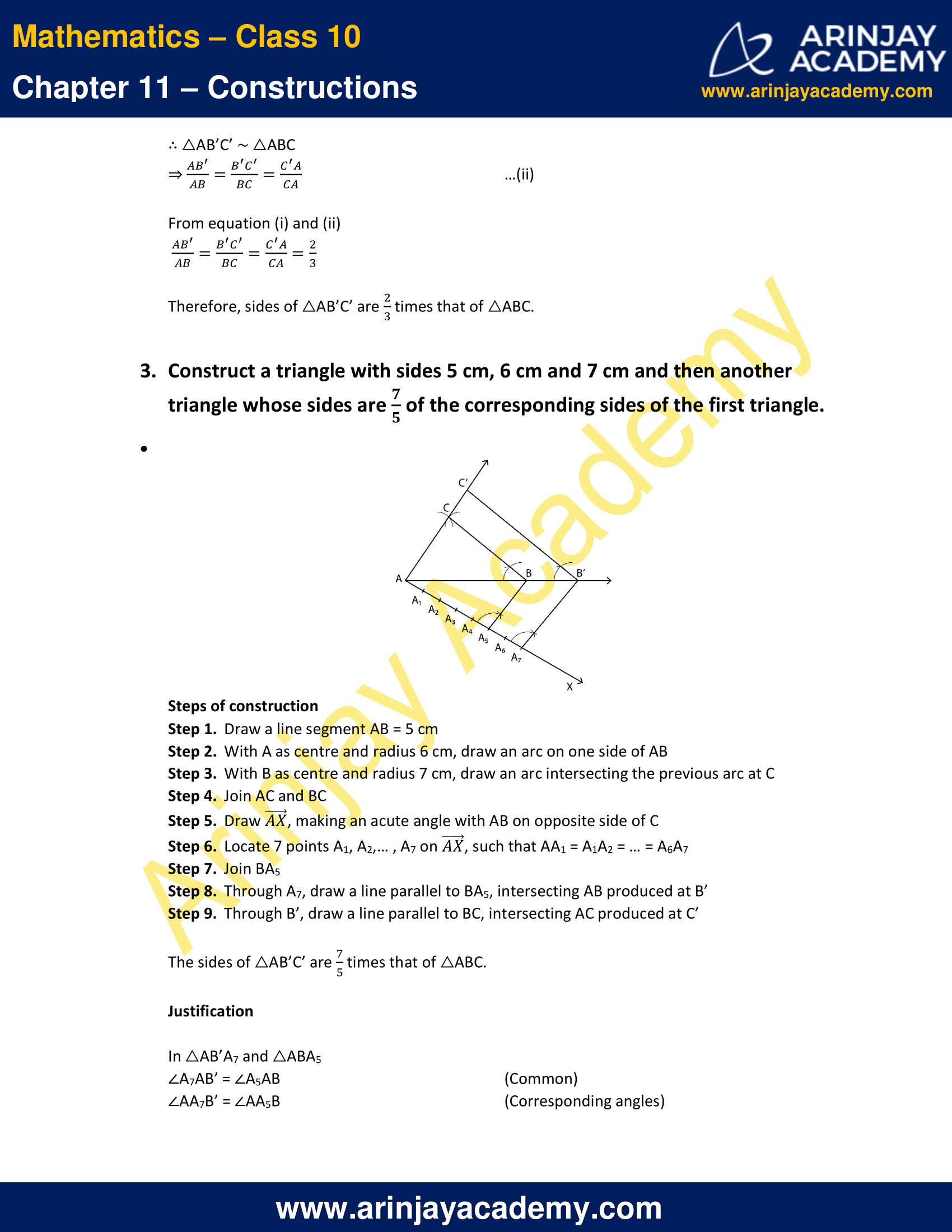 NCERT Solutions For Class 10 Maths Chapter 11 Exercise 11.1 image 3