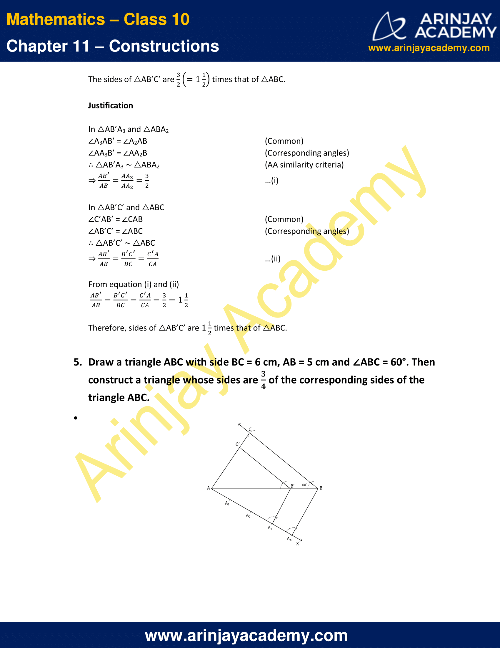 NCERT Solutions For Class 10 Maths Chapter 11 Exercise 11.1 image 5