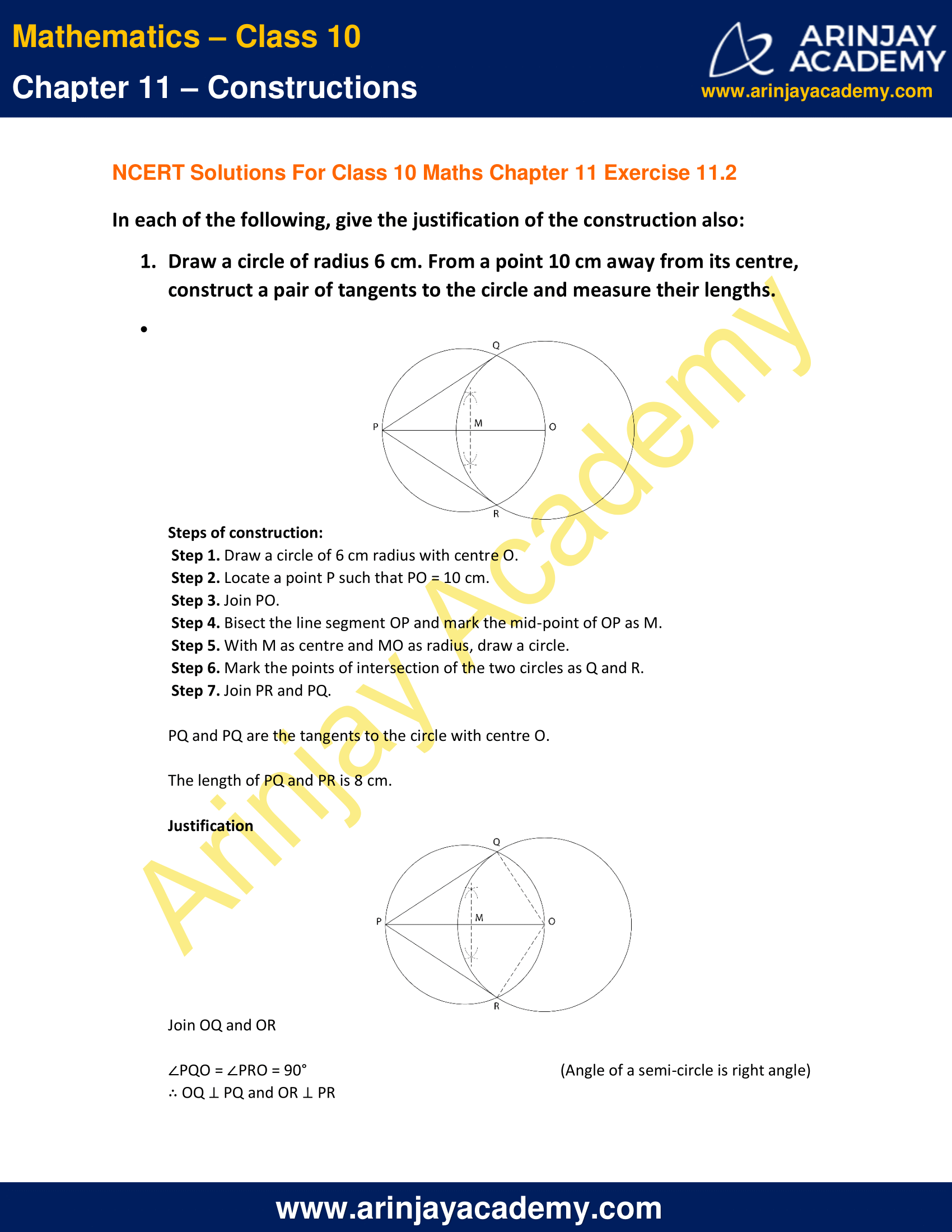 NCERT Solutions For Class 10 Maths Chapter 11 Exercise 11.2 image 1