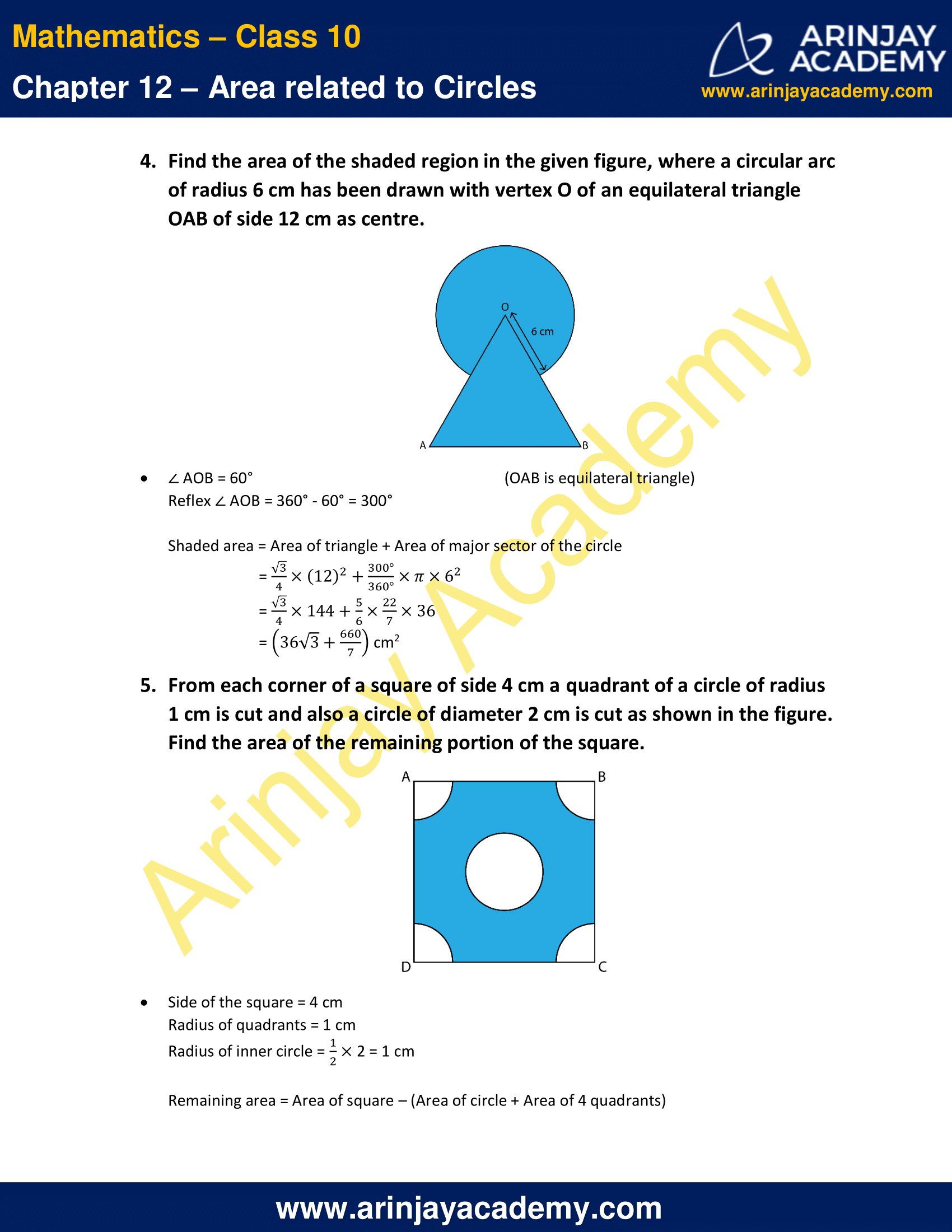 NCERT Solutions For Class 10 Maths Chapter 12 Exercise 12.3 image 3