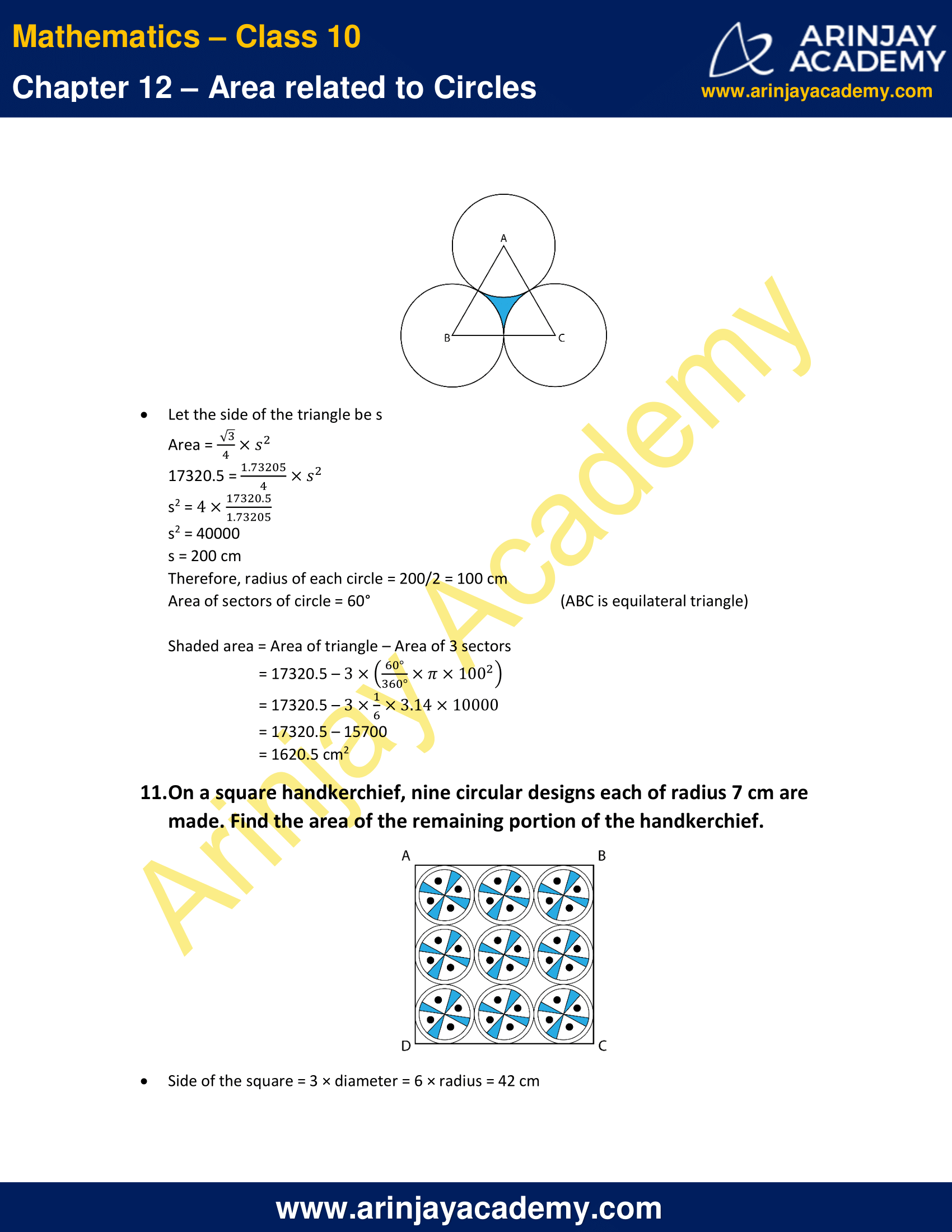 NCERT Solutions For Class 10 Maths Chapter 12 Exercise 12.3 image 8