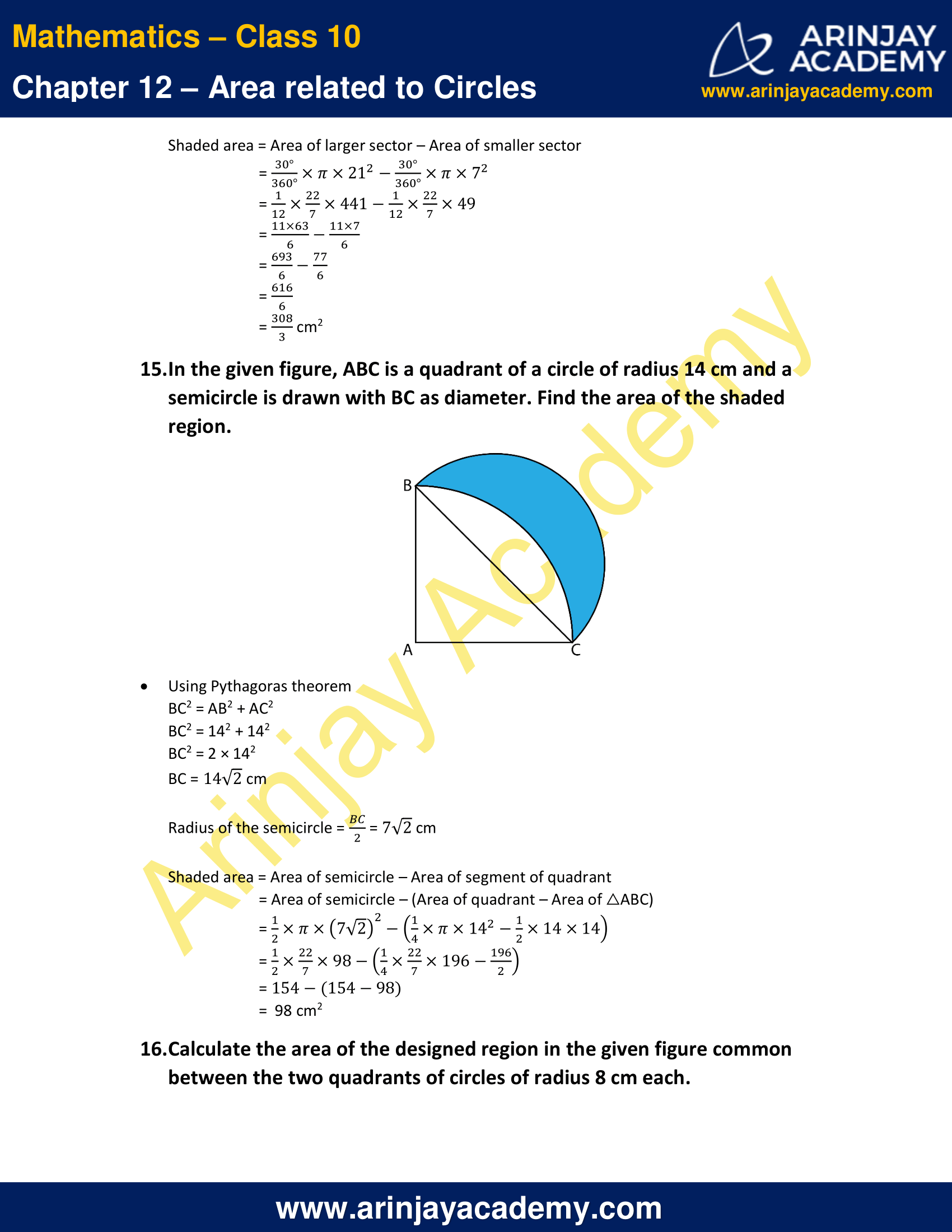NCERT Solutions For Class 10 Maths Chapter 12 Exercise 12.3 image 11