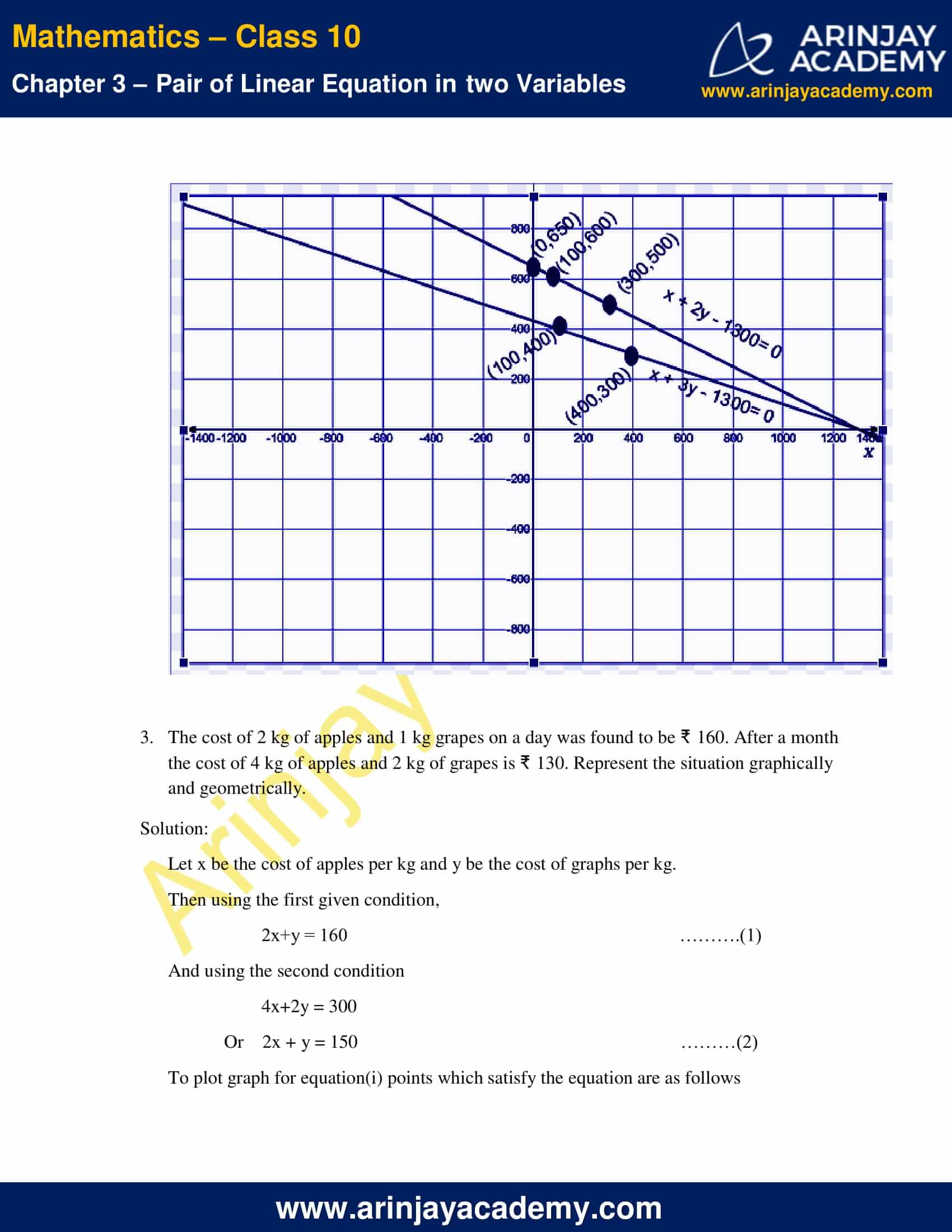 NCERT Solutions For Class 10 Maths Chapter 3 Exercise 3.1 image 4